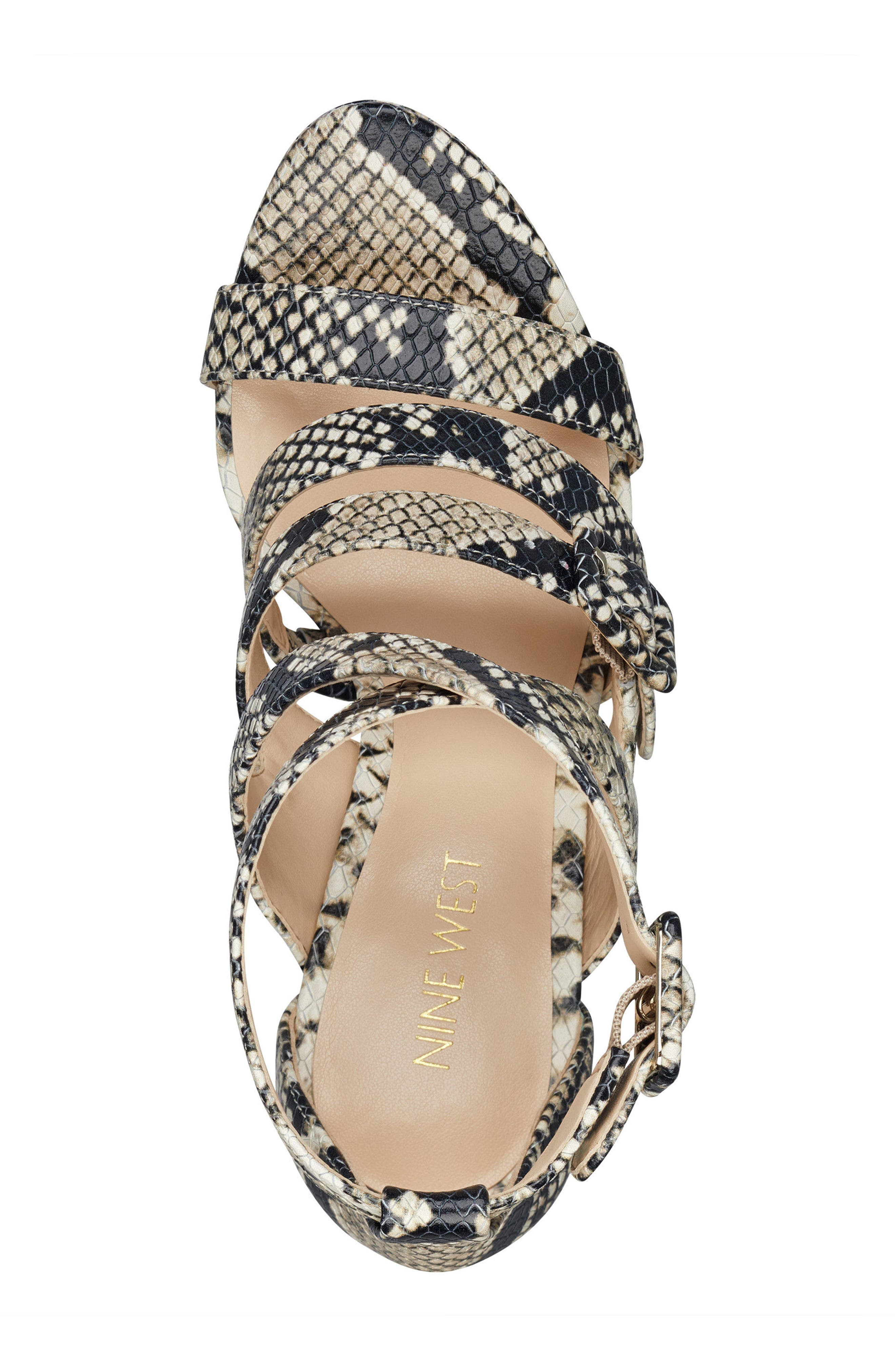 Tarykah Strappy Sandal,                             Alternate thumbnail 5, color,                             100