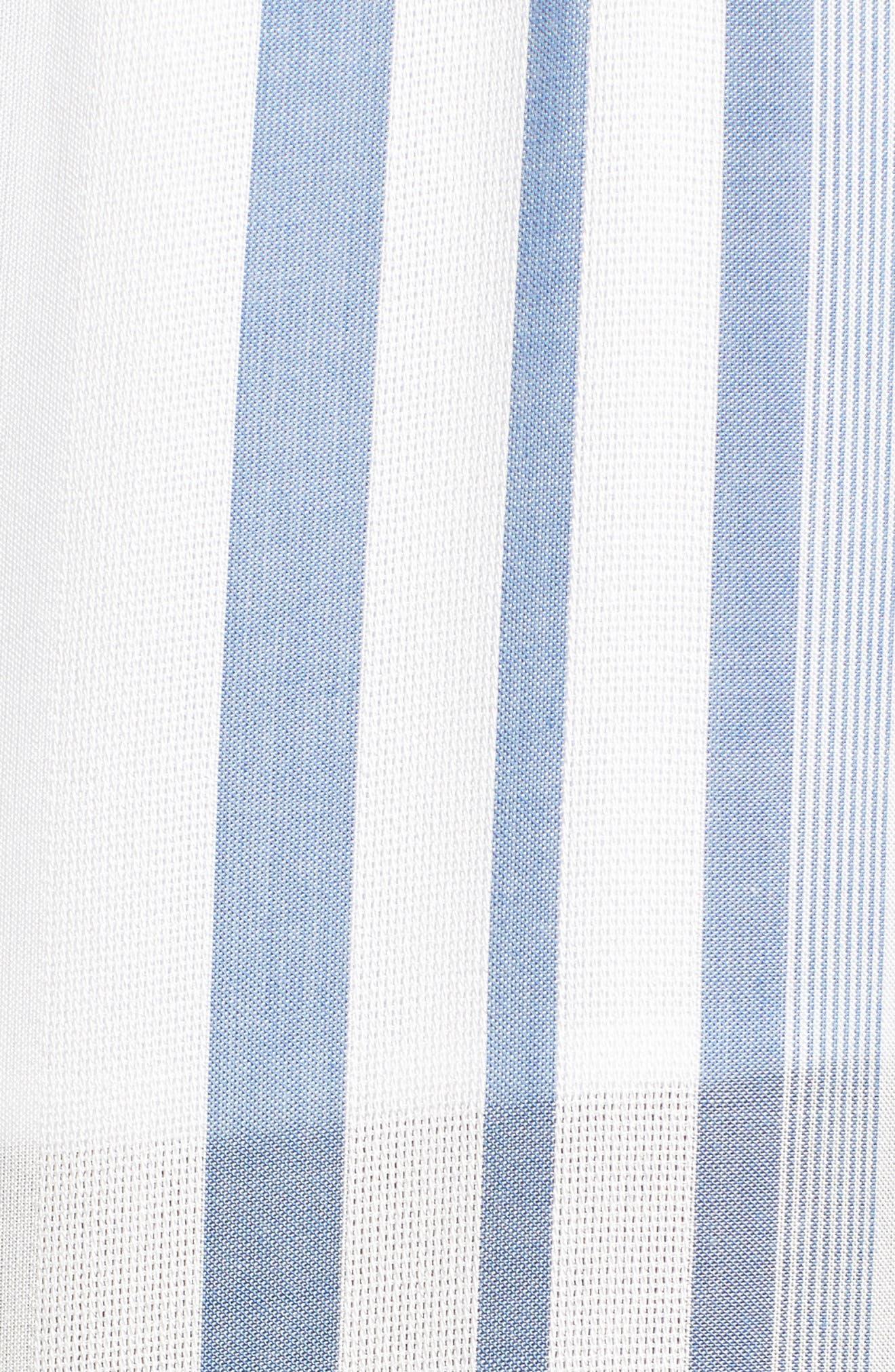 Marina Wide Leg Pants,                             Alternate thumbnail 5, color,                             WHITE/ BLUE