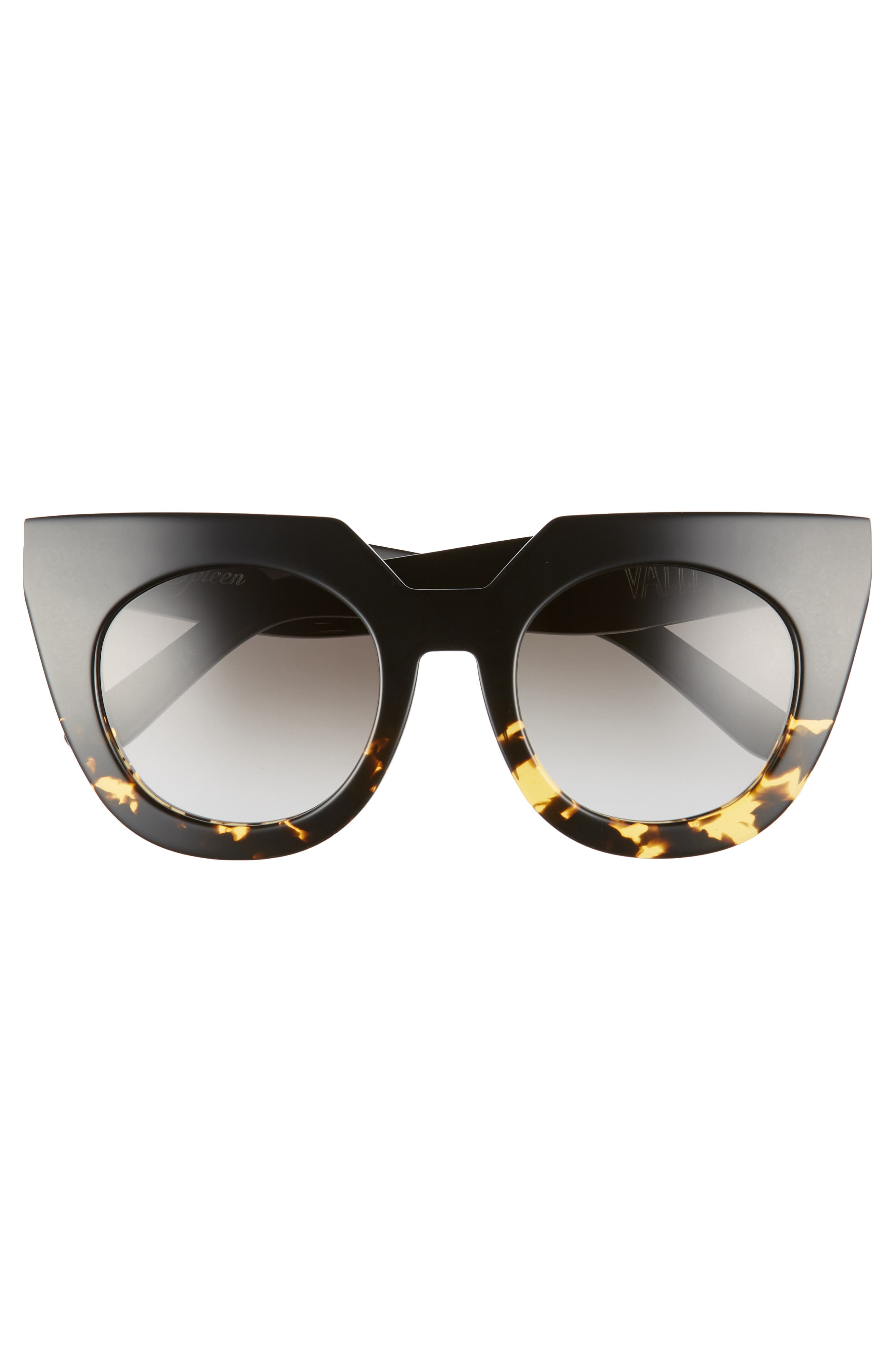 VALLEY,                             'Spleen' 49mm Oversized Cat Eye Sunglasses,                             Alternate thumbnail 3, color,                             003