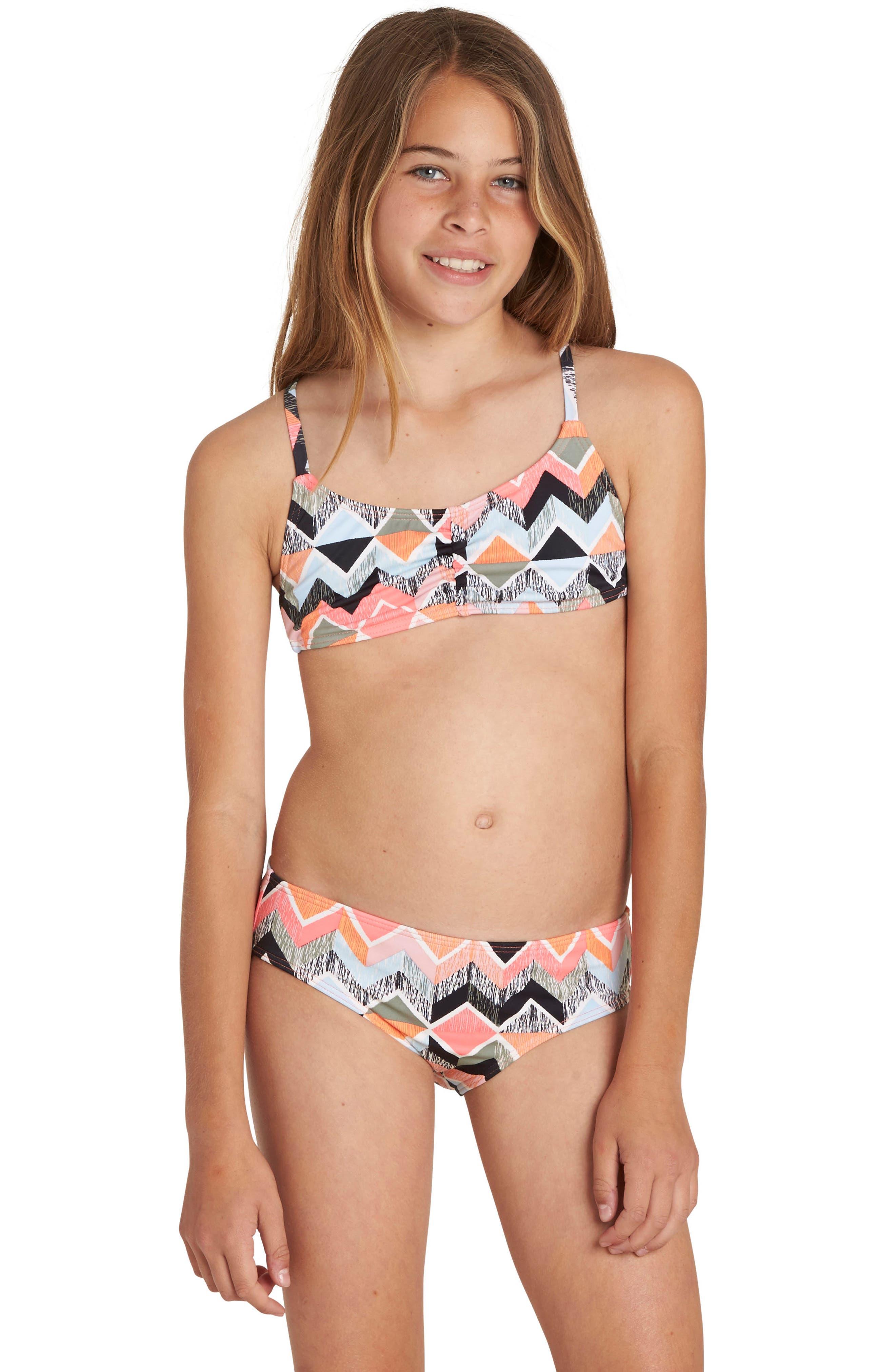Zigginz Crossback Two-Piece Swimsuit,                         Main,                         color, 950