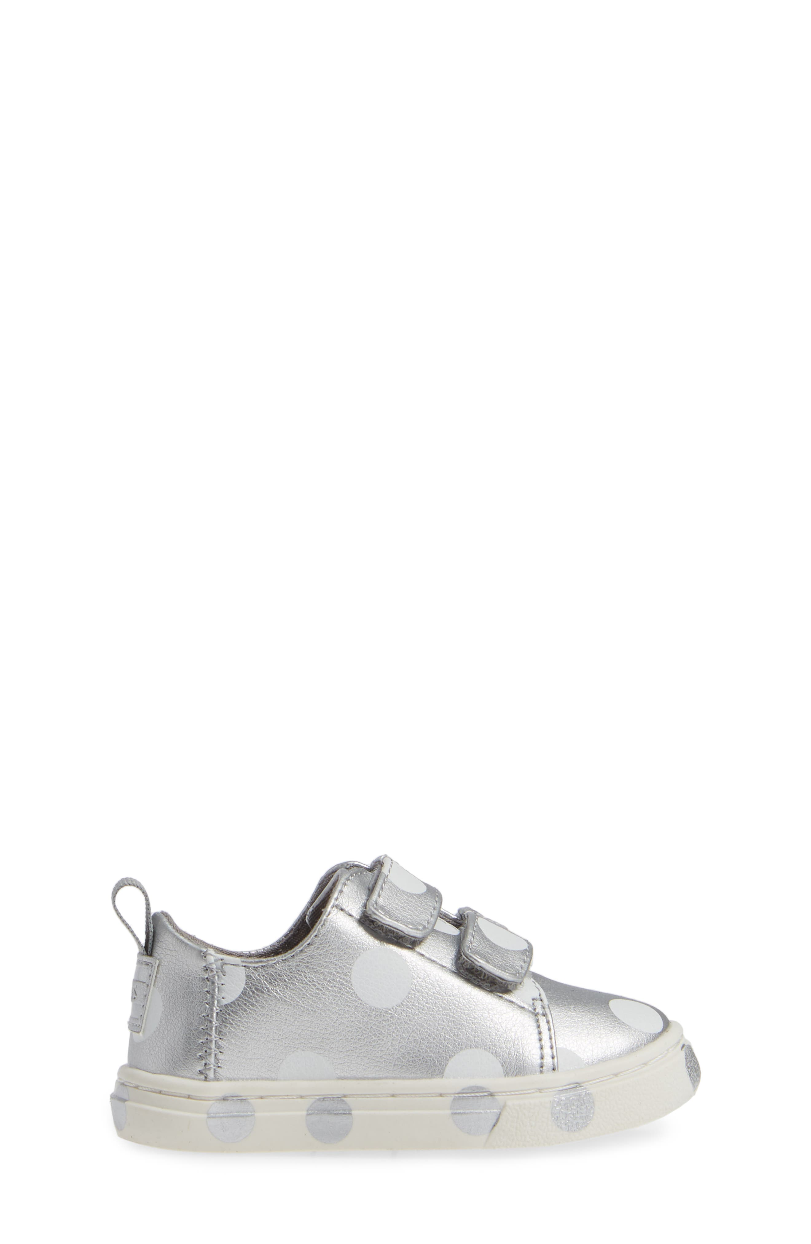 Lenny Sneaker,                             Alternate thumbnail 3, color,                             SILVER SYNTHETIC LEATHER DOTS