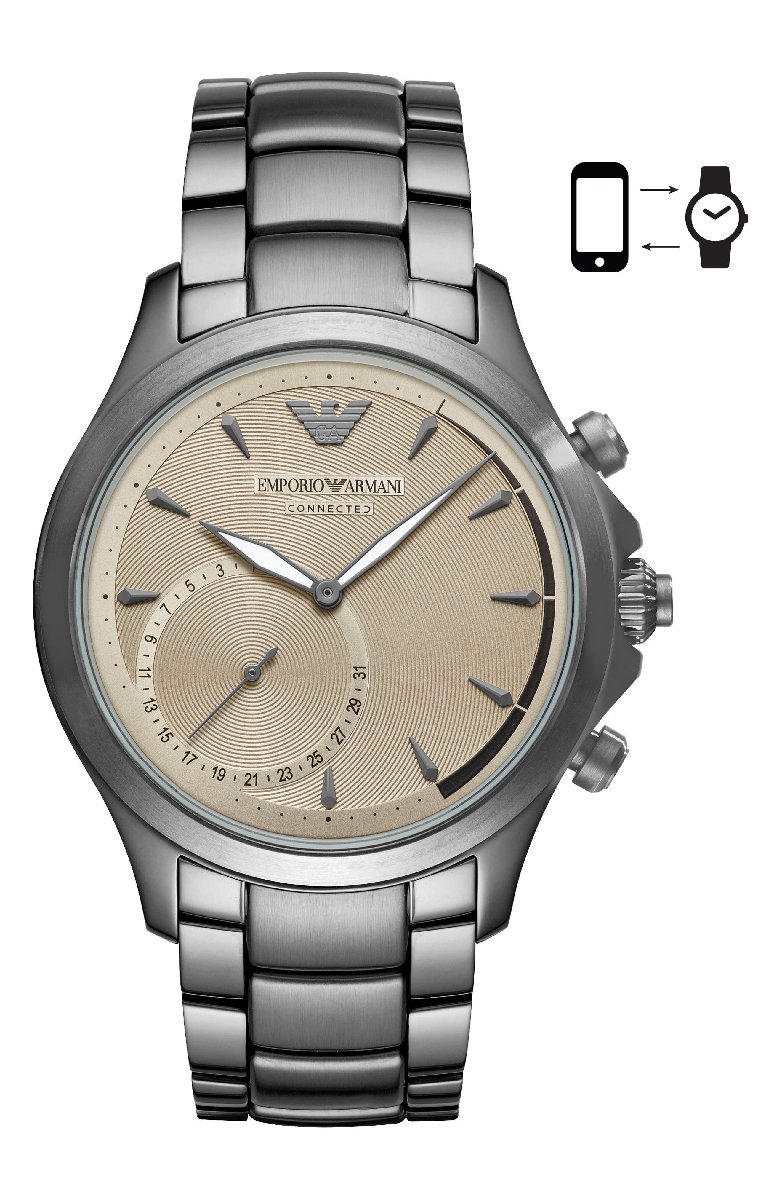 Hybrid Smartwatch, 43mm,                             Main thumbnail 1, color,                             020