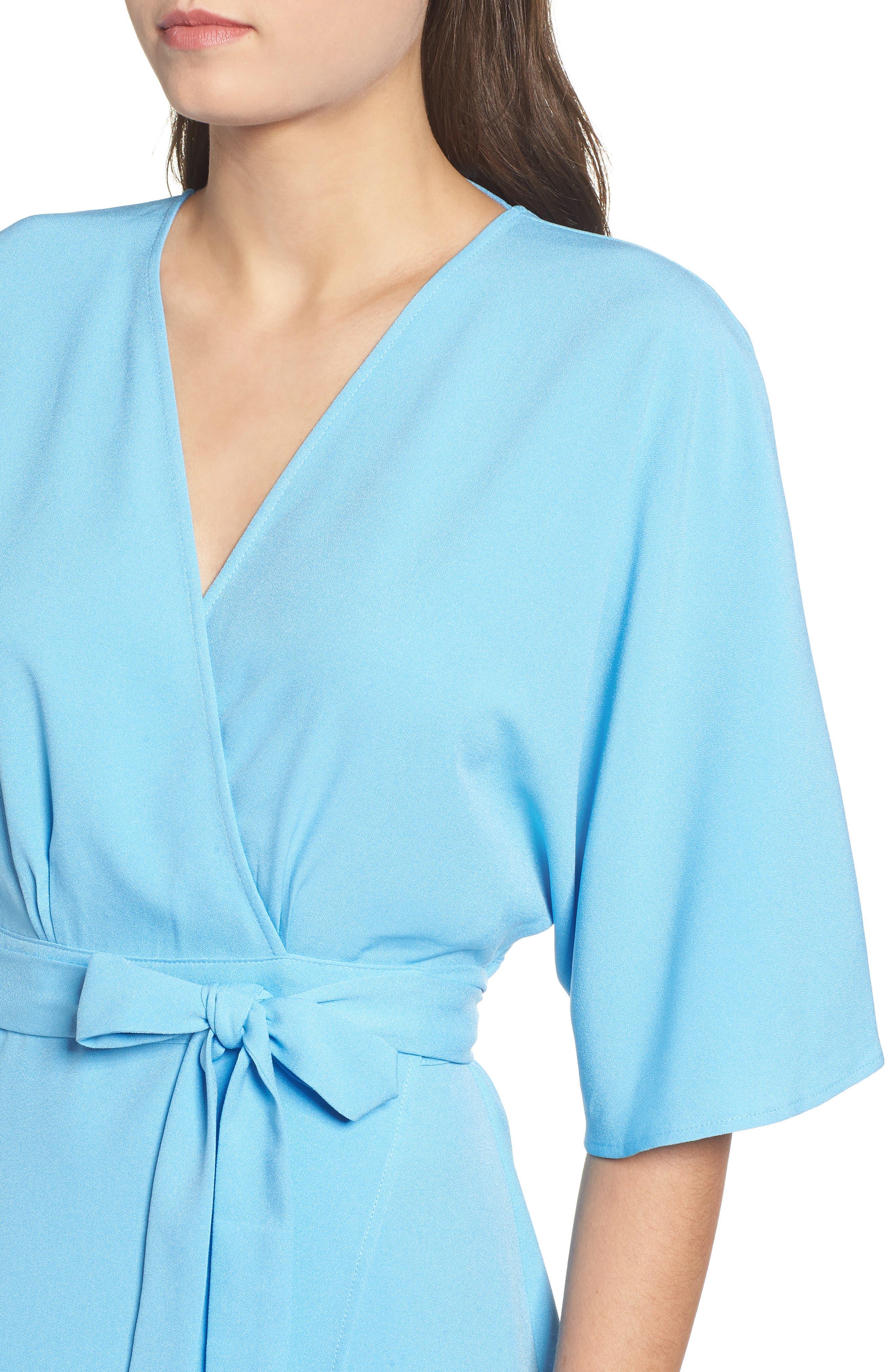 Kimono Maxi Dress,                             Alternate thumbnail 4, color,                             BLUE ALASKAN