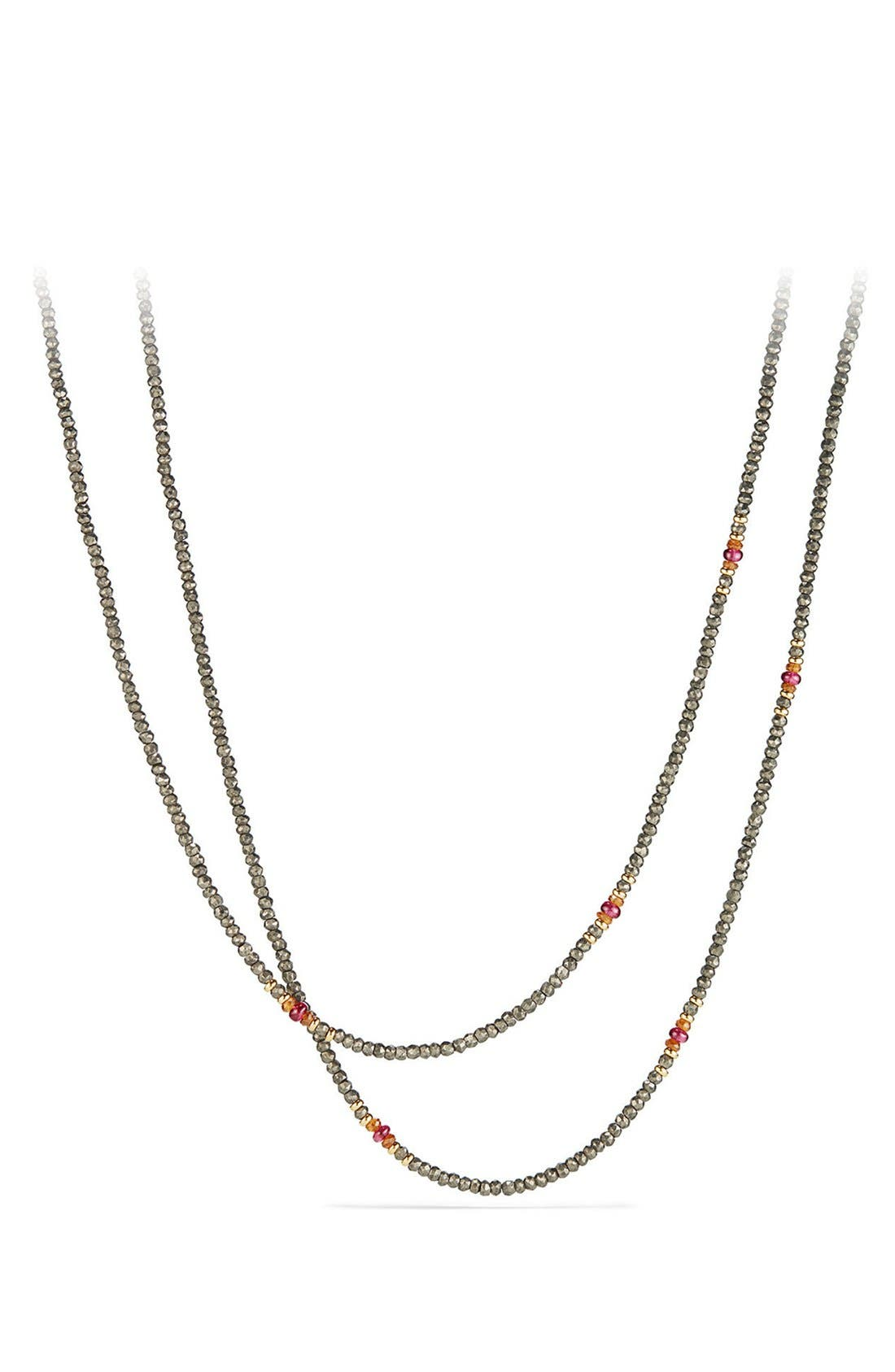 Cable Berries Tweejoux Necklace with 18K Gold,                         Main,                         color, PYRITE