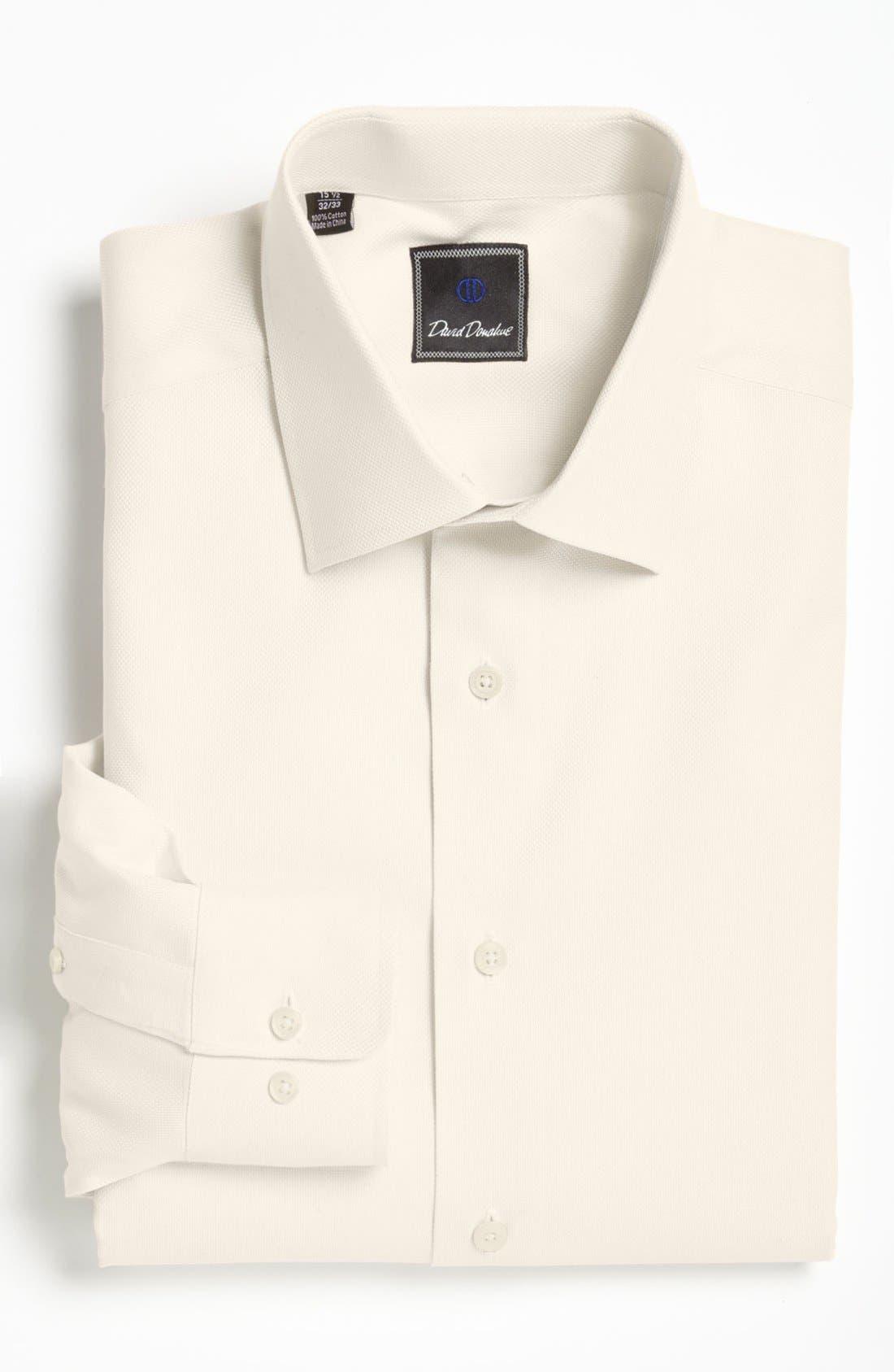 Regular Fit Oxford Dress Shirt,                         Main,                         color, ECRU
