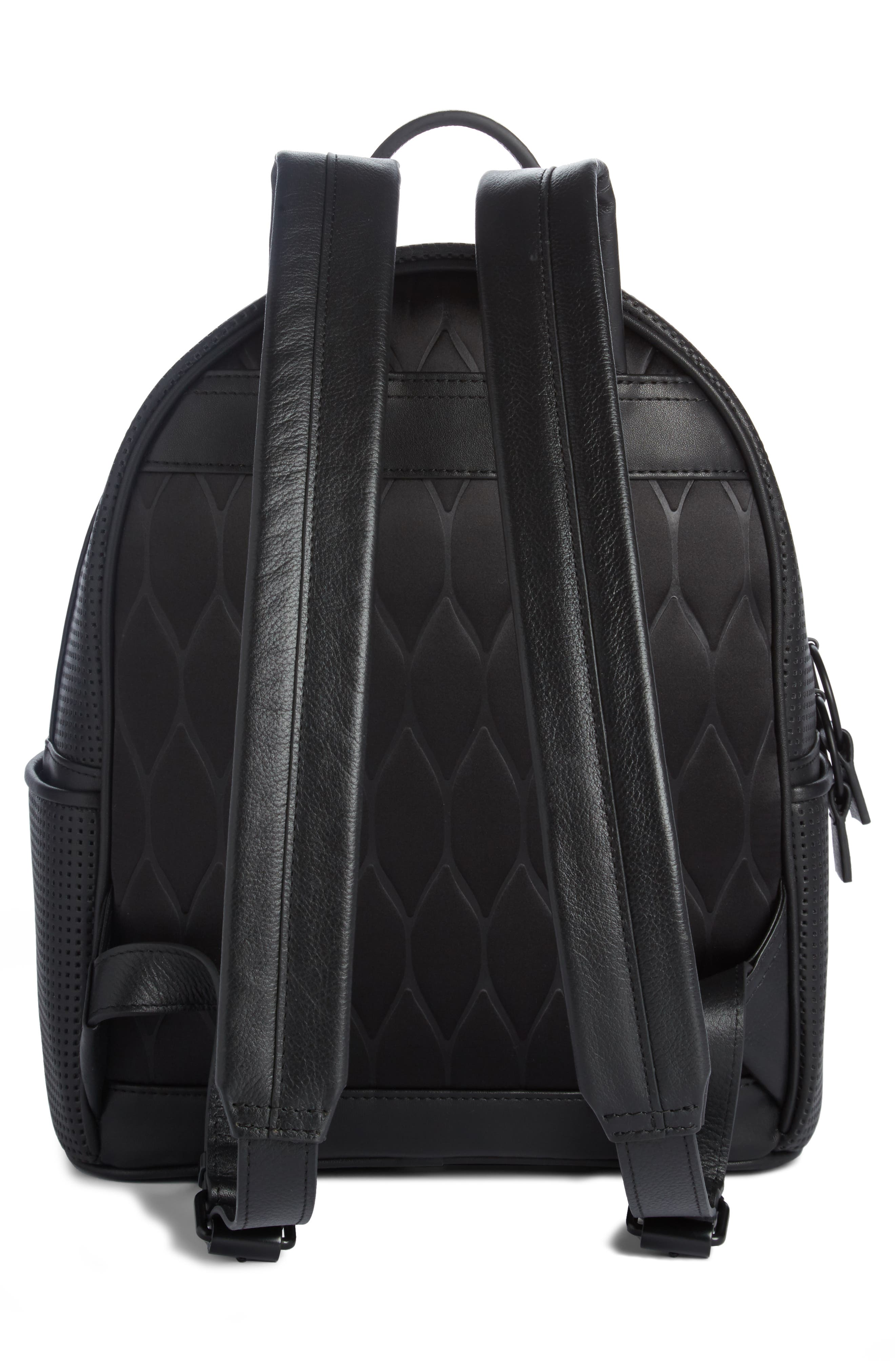 Eyes Perforated Nylon Backpack,                             Alternate thumbnail 2, color,                             001