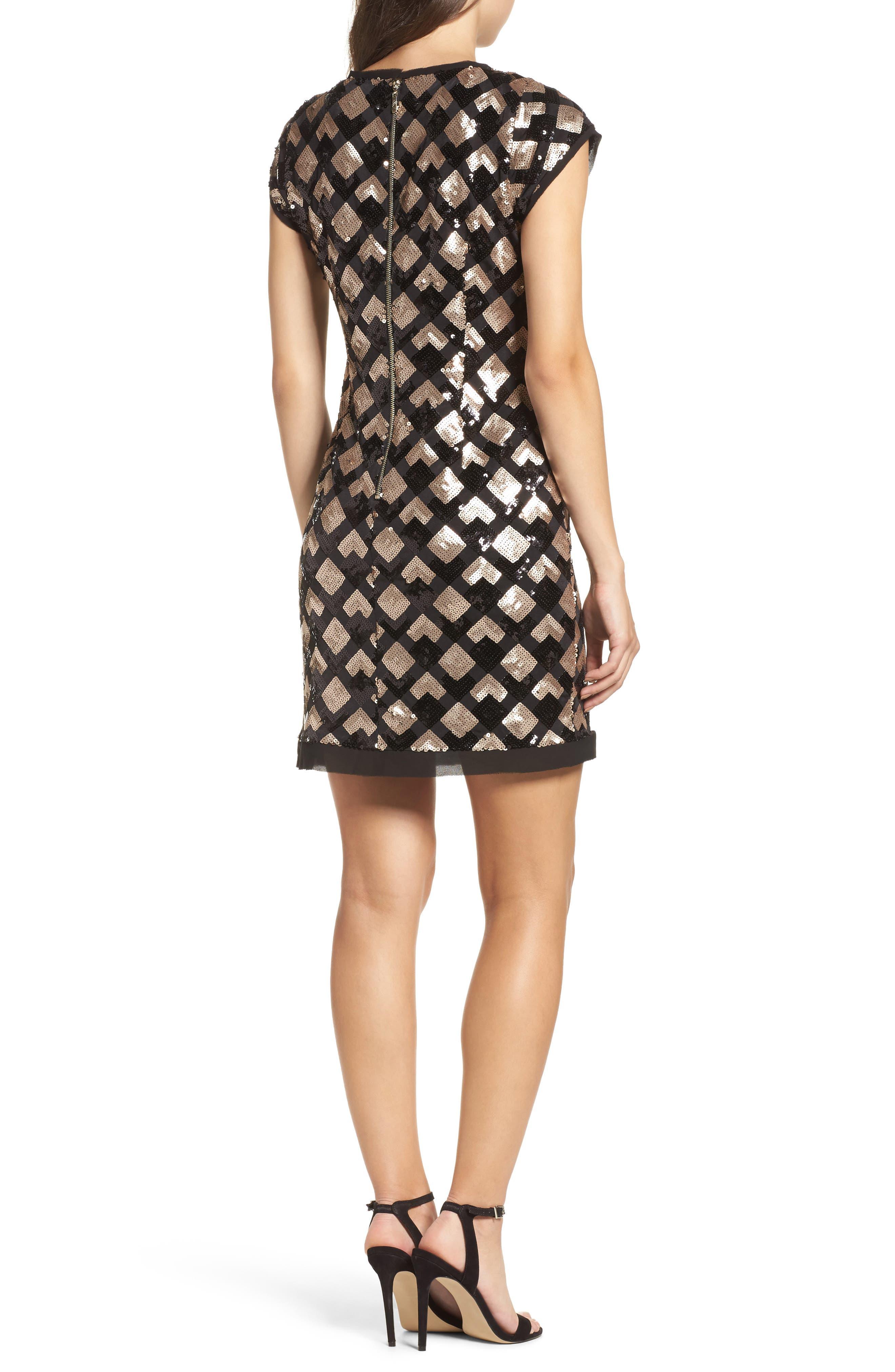Sequin Sheath Dress,                             Alternate thumbnail 2, color,