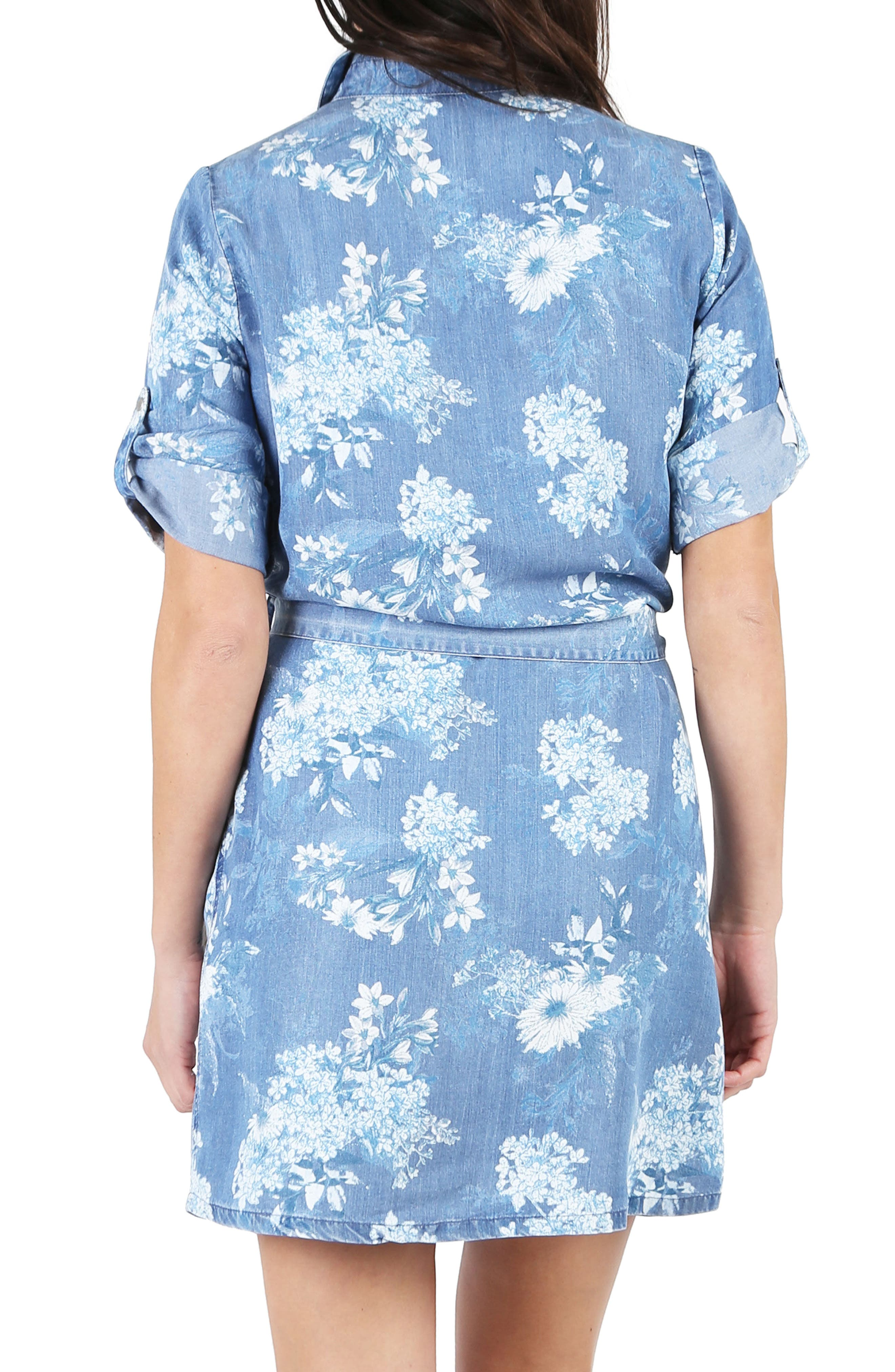 Amerie Belted Chambray Dress,                             Alternate thumbnail 2, color,                             400