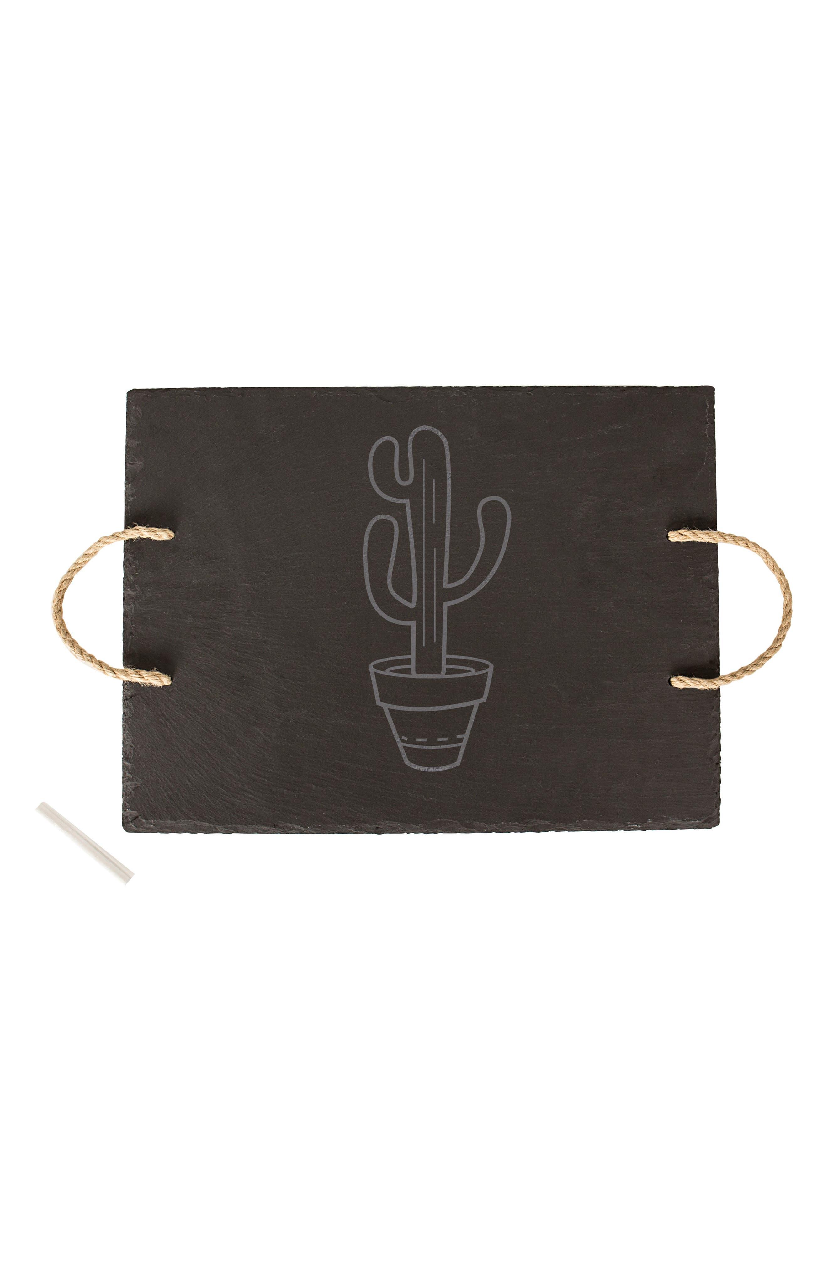 Cactus Slate Serving Board,                             Main thumbnail 1, color,                             003