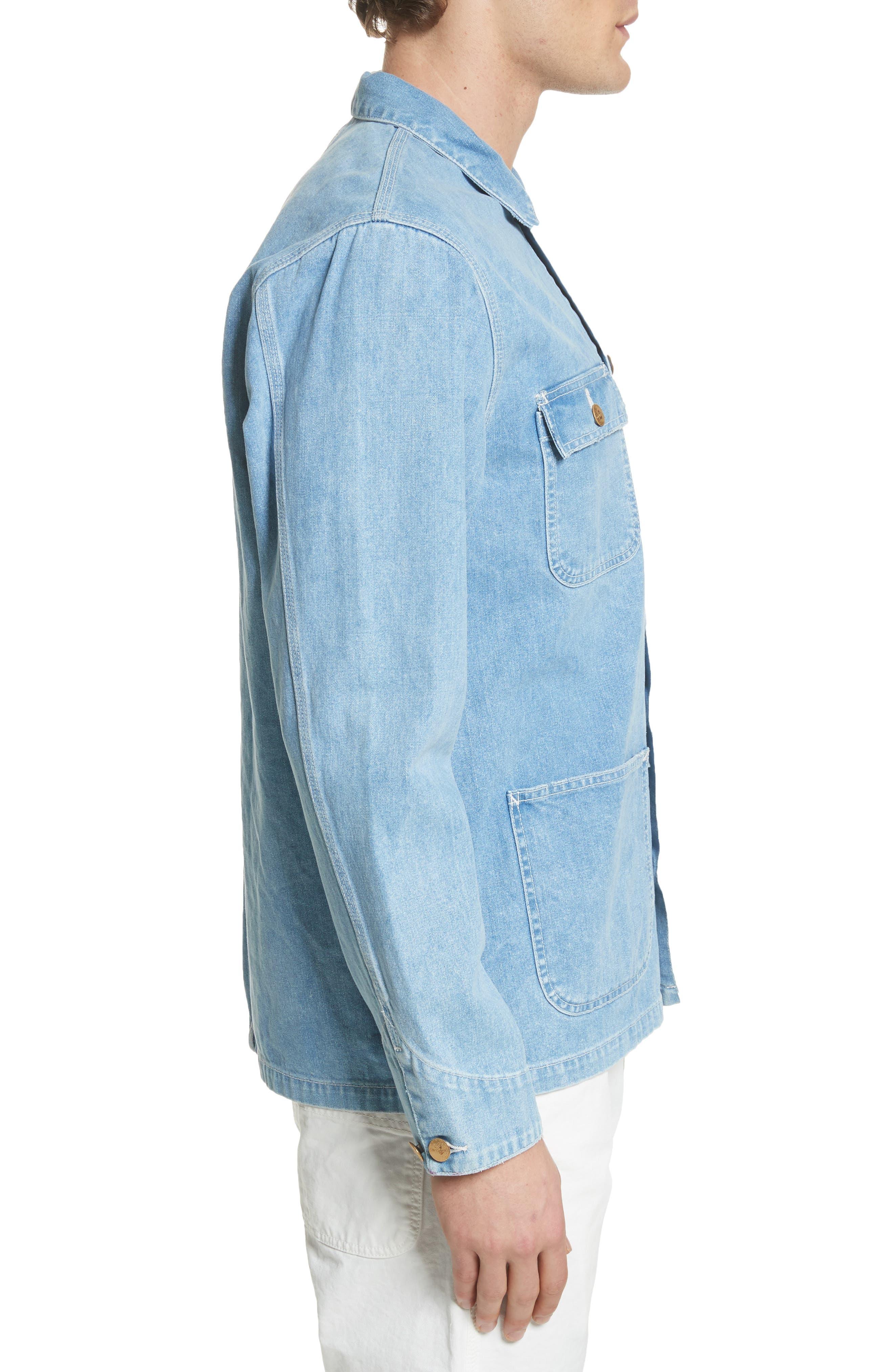 Michigan Norco Denim Chore Jacket,                             Alternate thumbnail 3, color,