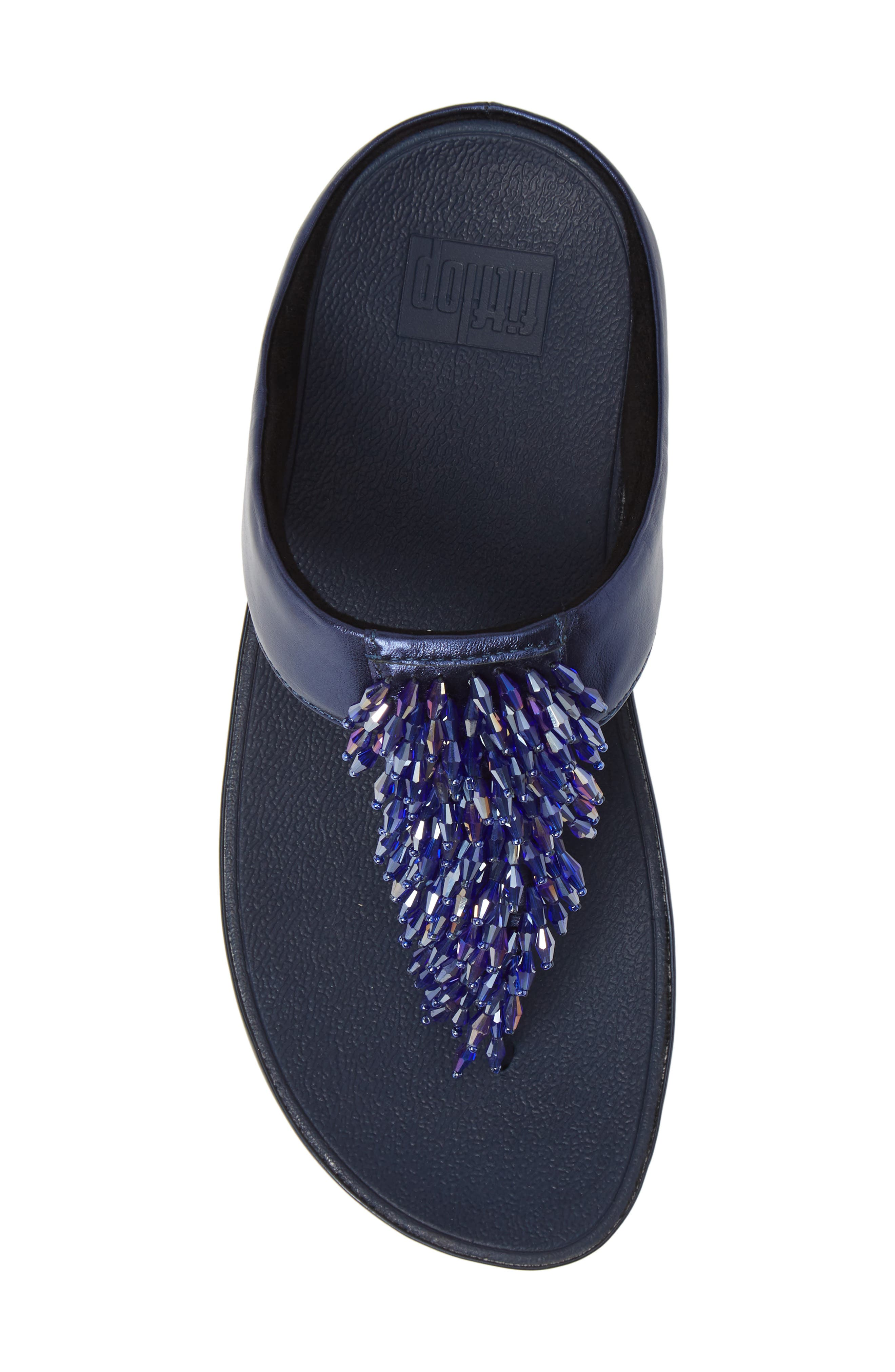 Rumba Flip Flop,                             Alternate thumbnail 5, color,                             METEOR BLUE LEATHER