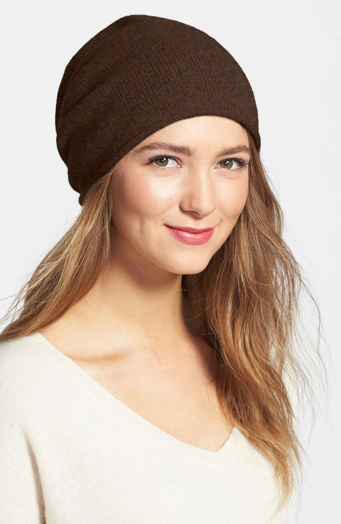 Slouchy Cashmere Beanie,                             Main thumbnail 7, color,