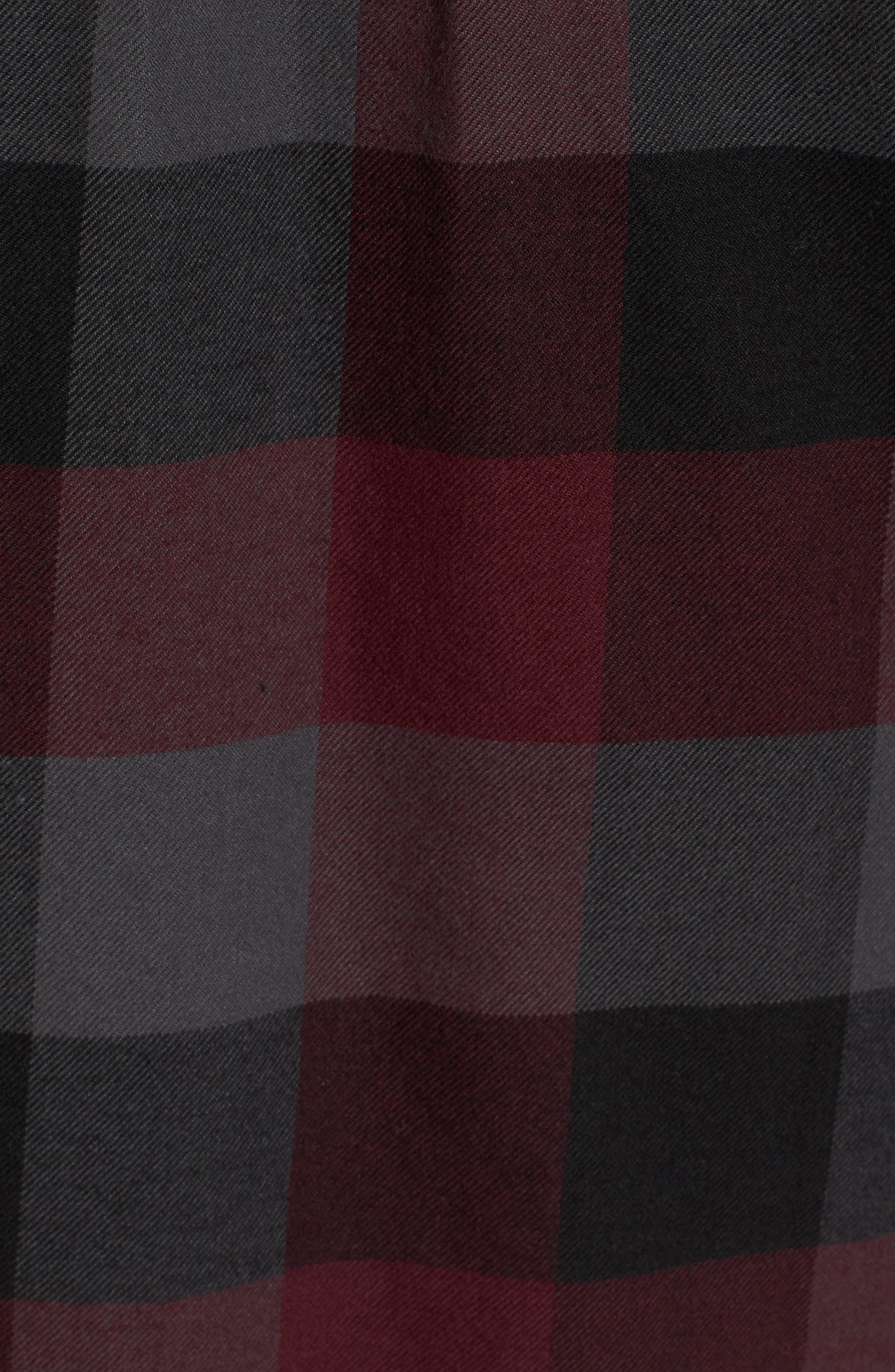 Trim Fit Check Flannel Woven Shirt,                             Alternate thumbnail 23, color,