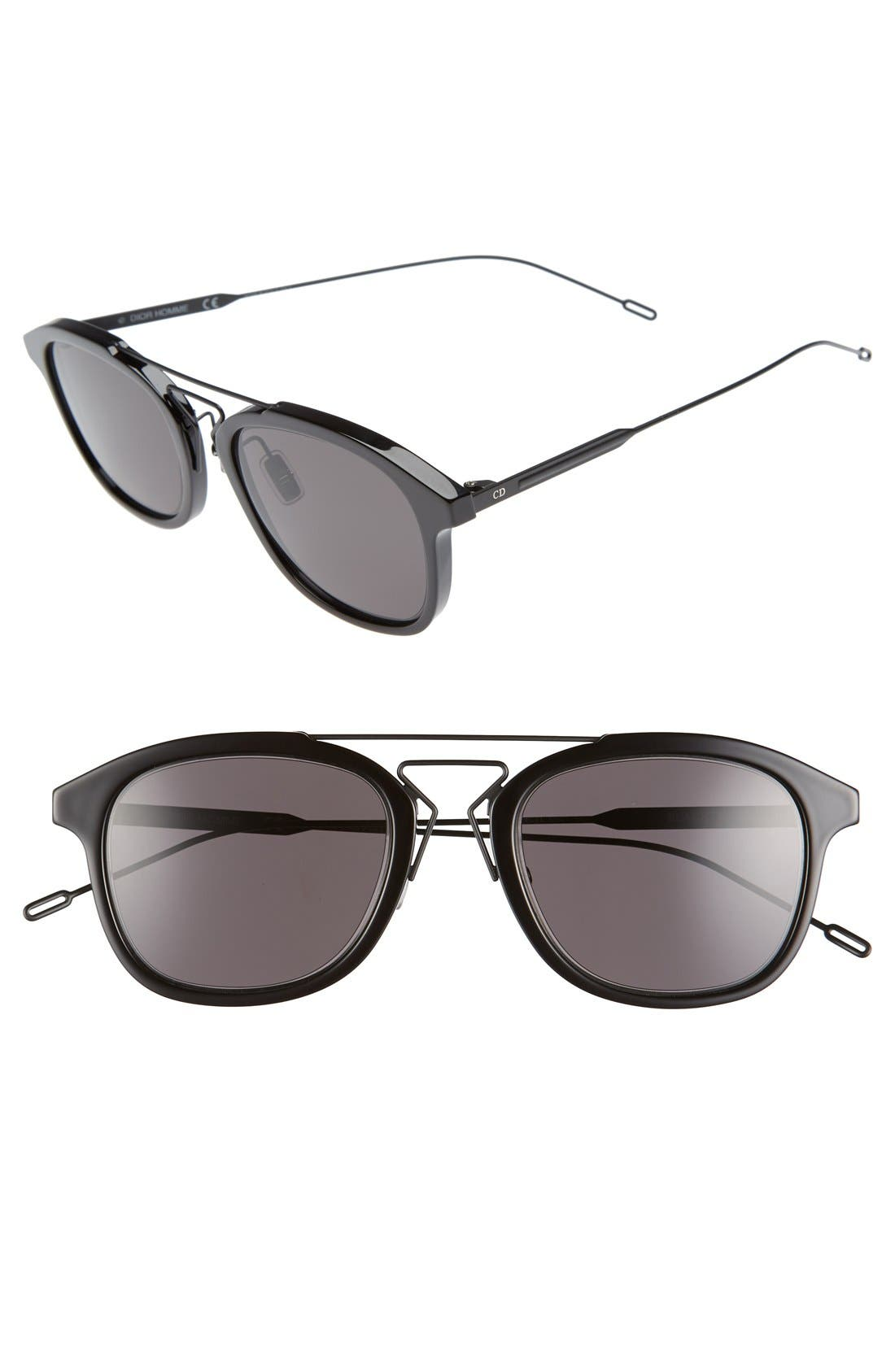 52mm 'Black Tie' Sunglasses,                             Main thumbnail 2, color,