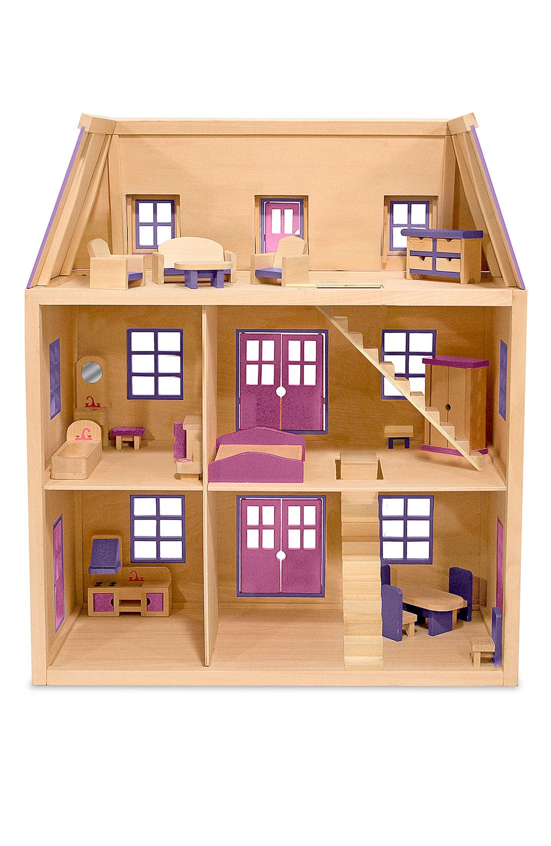 Wooden Dollhouse,                             Alternate thumbnail 2, color,                             PINK