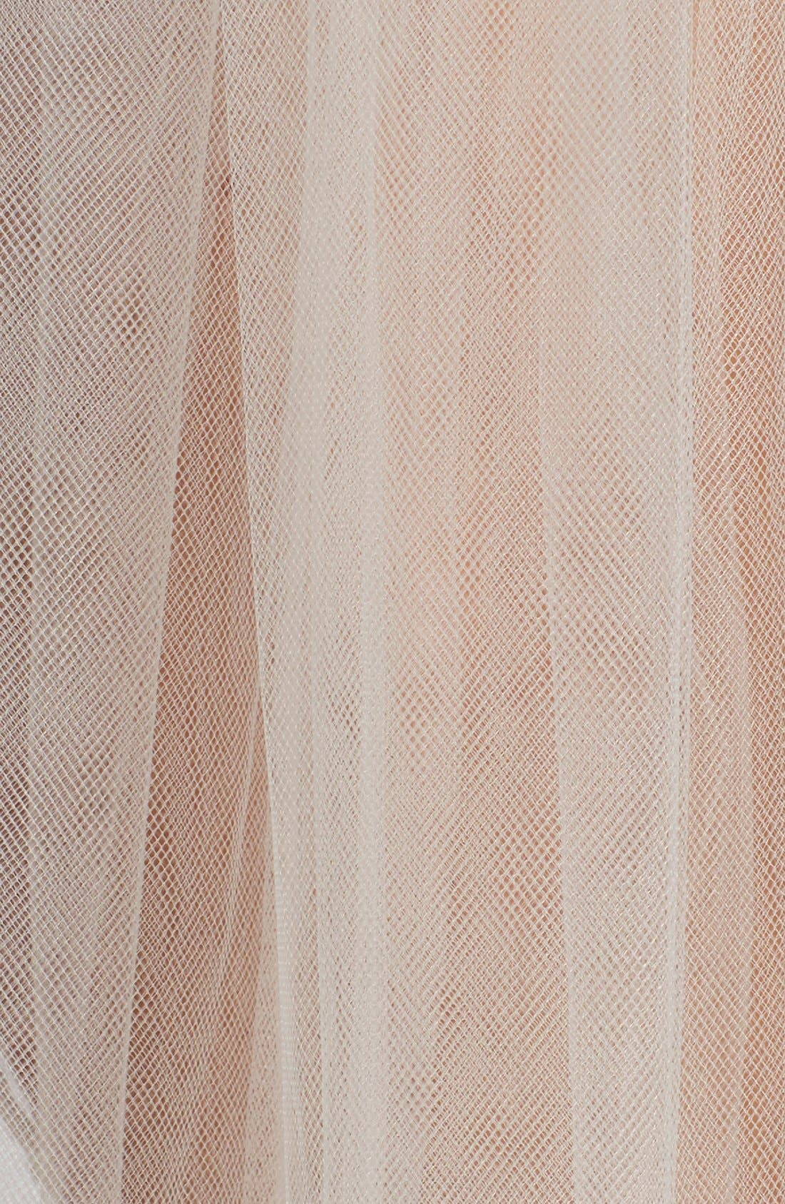 'Christina' Tulle Veil,                             Alternate thumbnail 4, color,                             WHITE