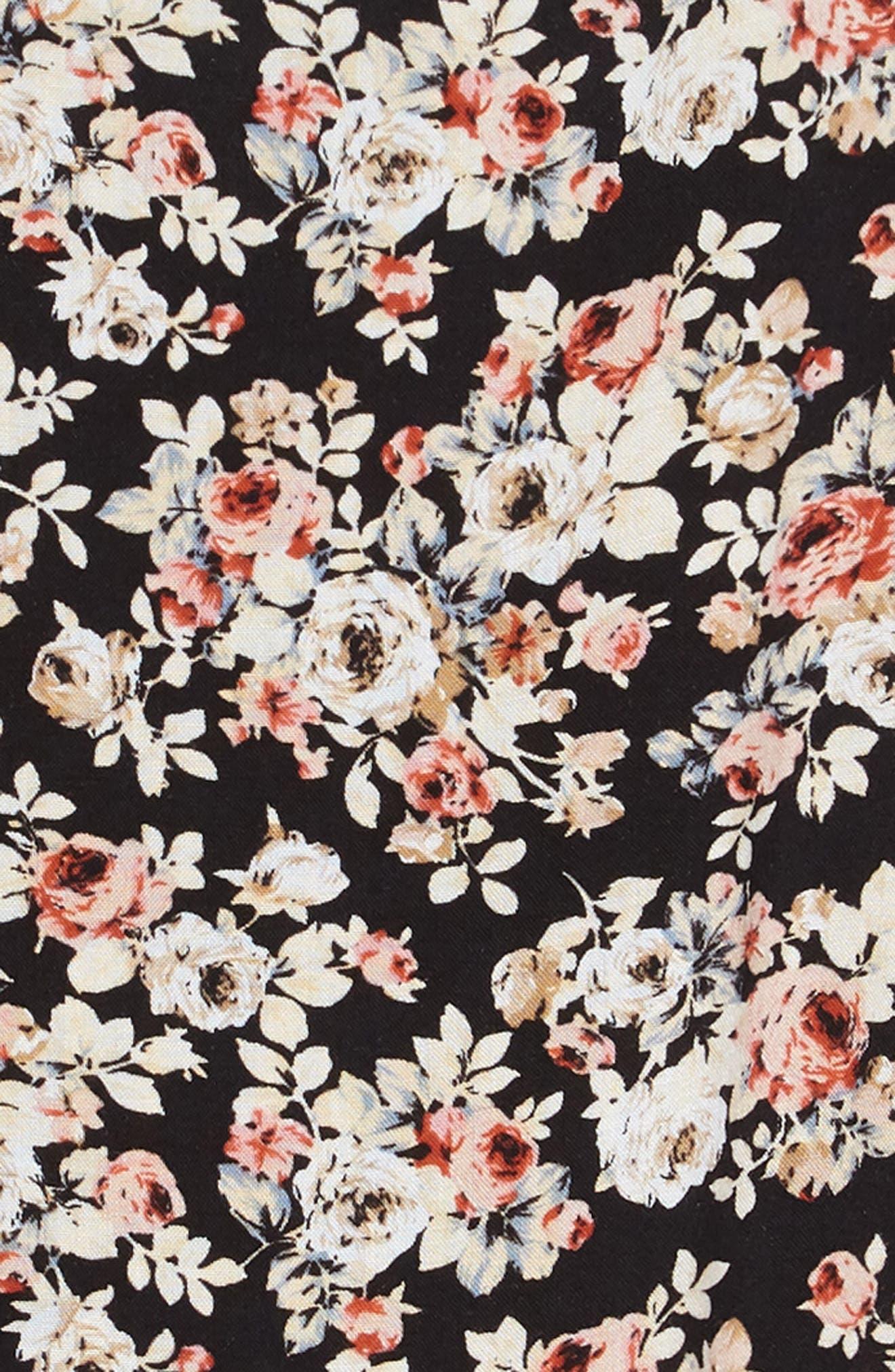 Floral Shift Dress,                             Alternate thumbnail 3, color,                             001