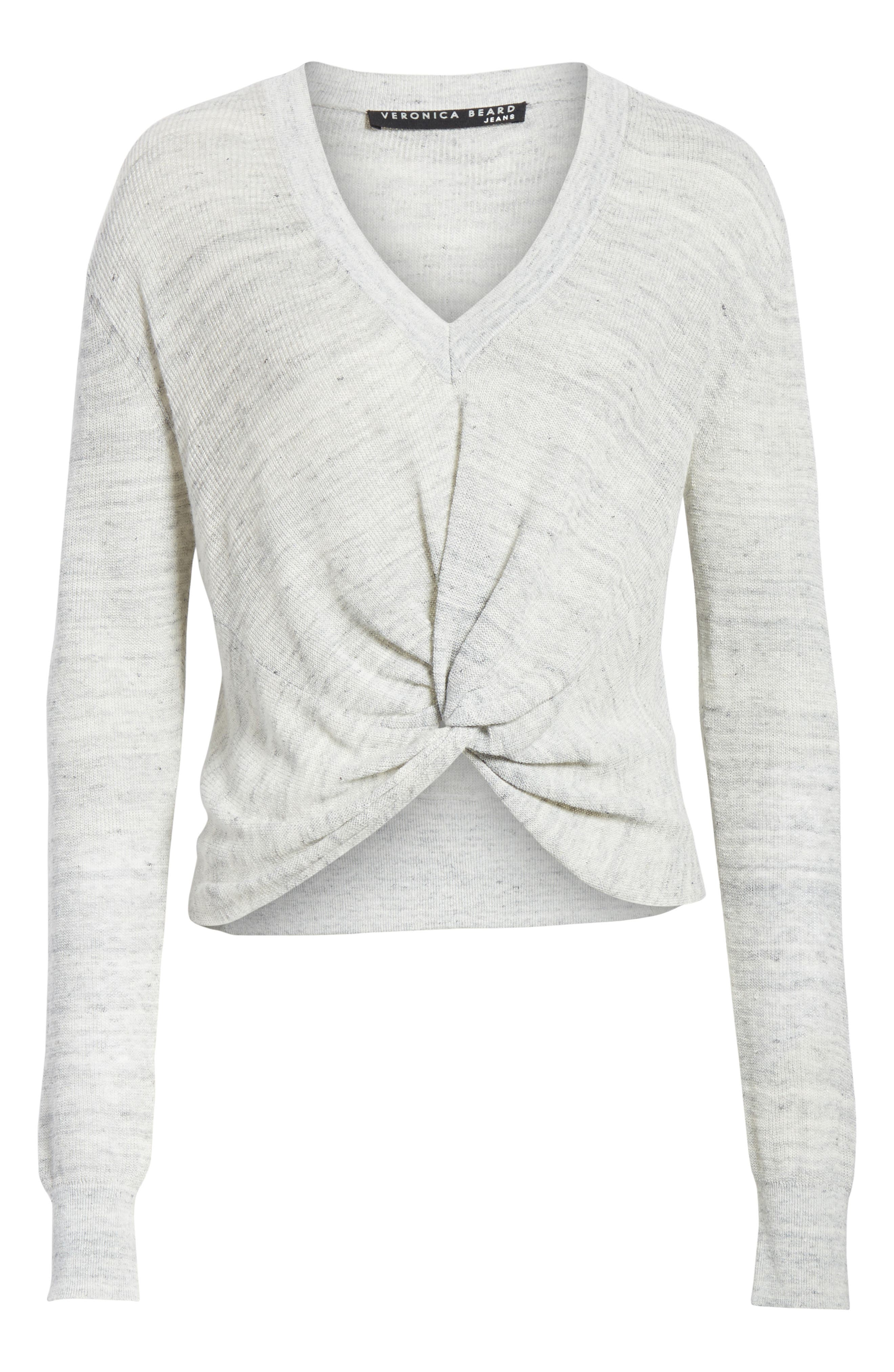 Soren Twist Front Linen Blend Sweater,                             Alternate thumbnail 6, color,