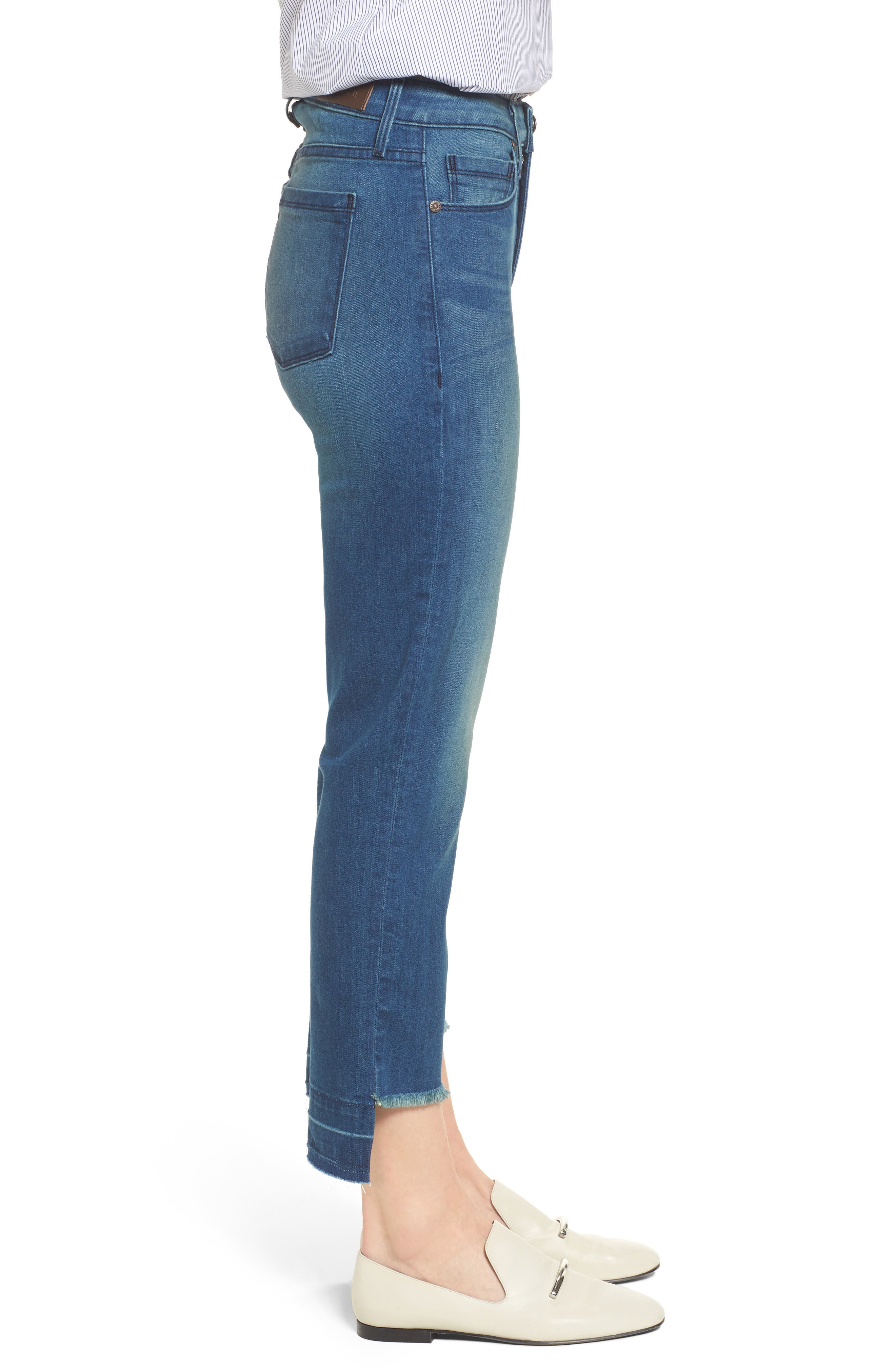 Pin-Up Straight Leg Crop Jeans,                             Alternate thumbnail 3, color,                             424