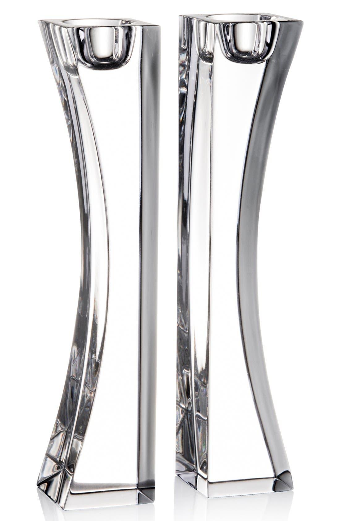 'Kissing' Crystal Candlesticks, Main, color, 000