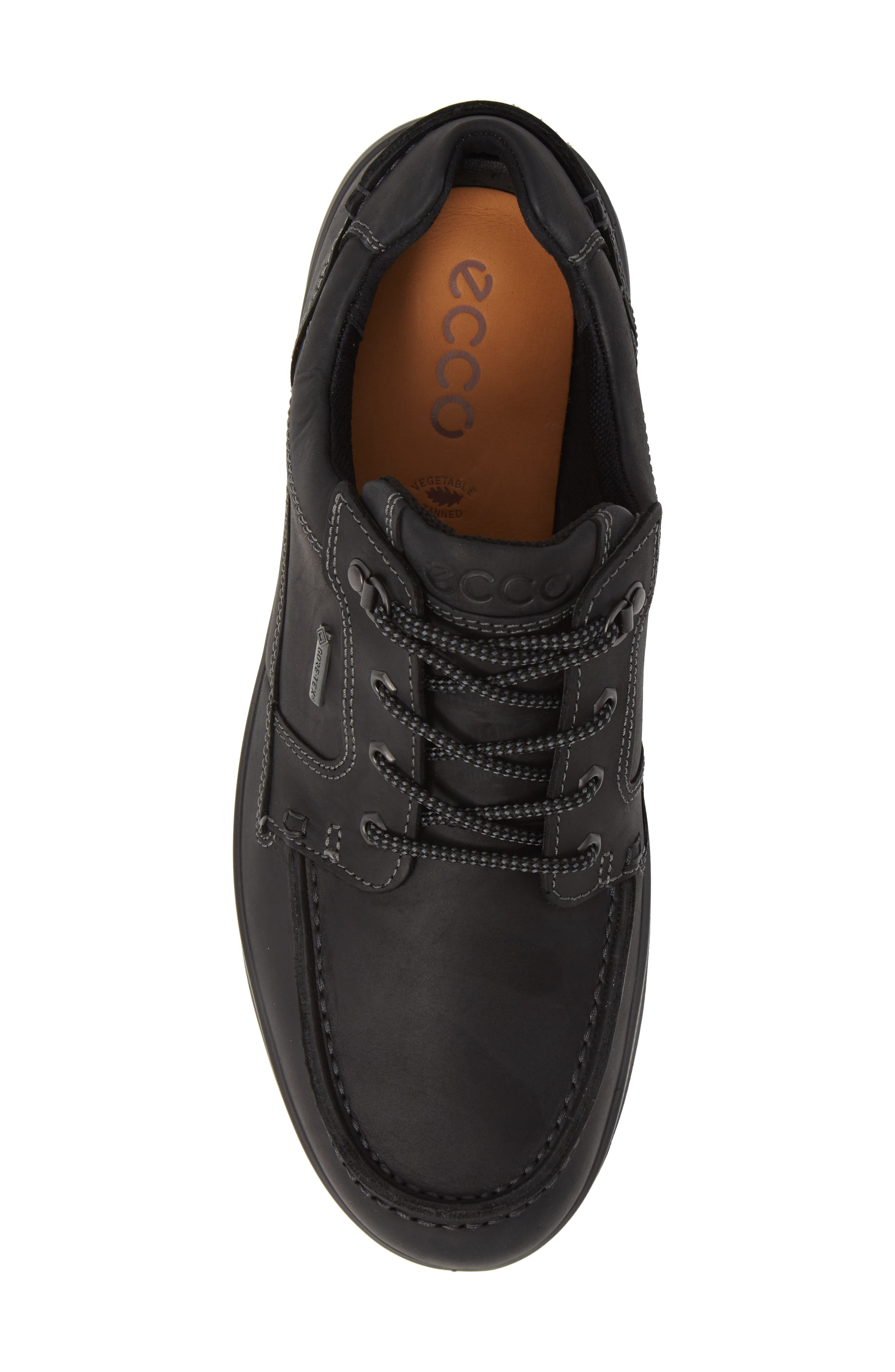 Rugged Track Low Gore-Tex<sup>®</sup> Oxford,                             Alternate thumbnail 5, color,                             BLACK LEATHER
