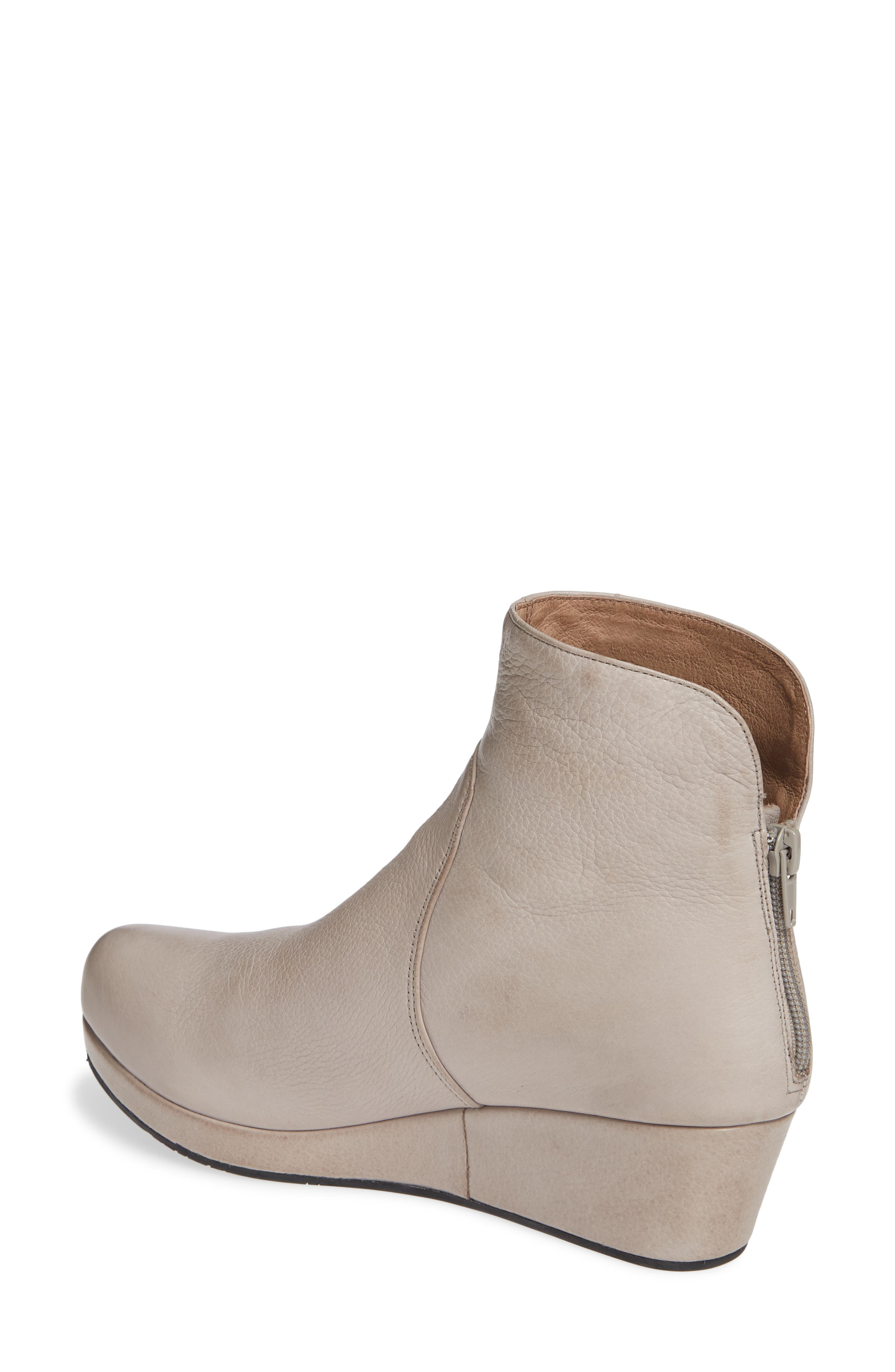 Yarden Wedge Bootie,                             Alternate thumbnail 2, color,                             GREY LEATHER