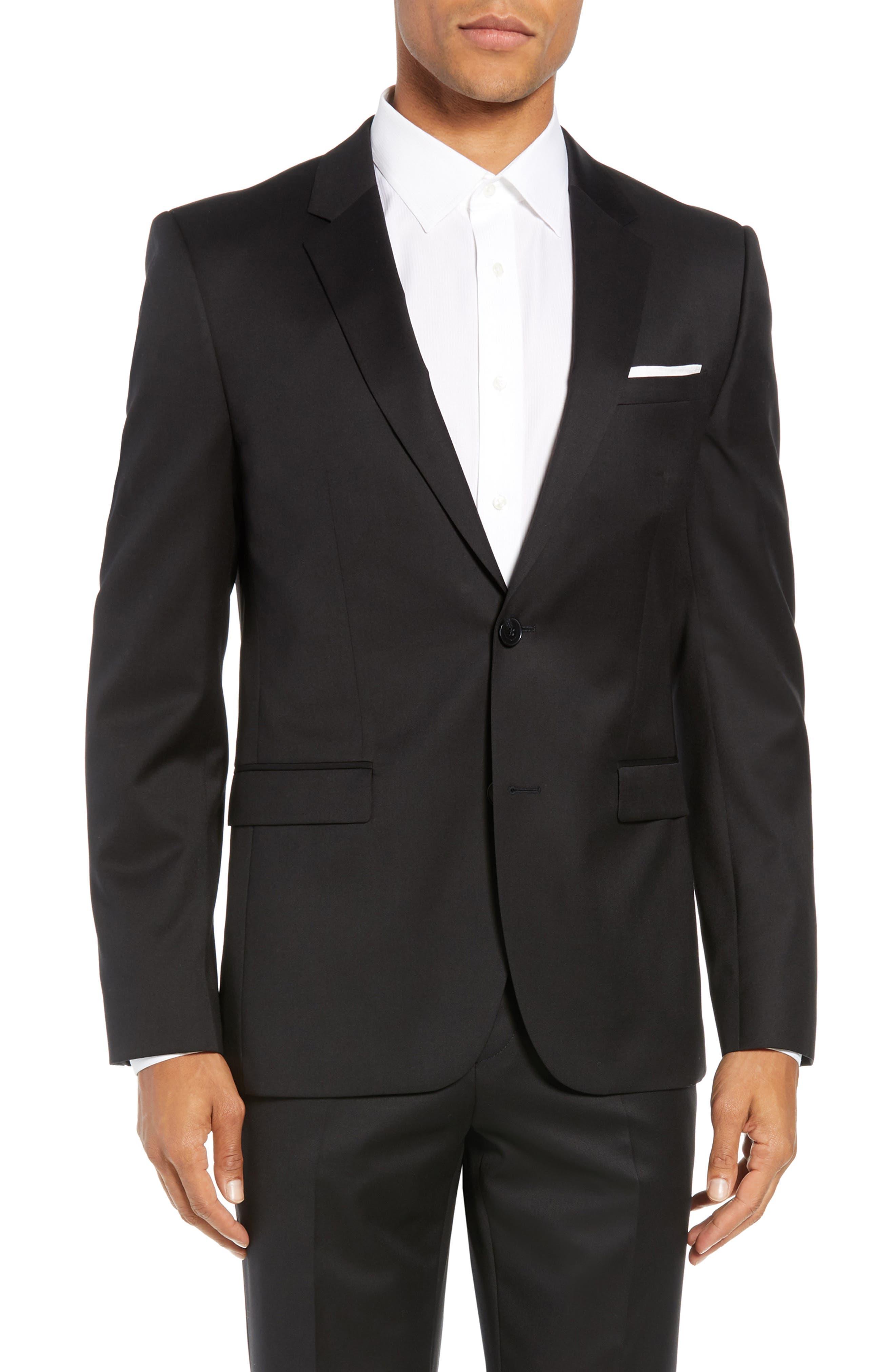 Aldon Extra Slim Fit Blazer,                             Main thumbnail 1, color,                             BLACK