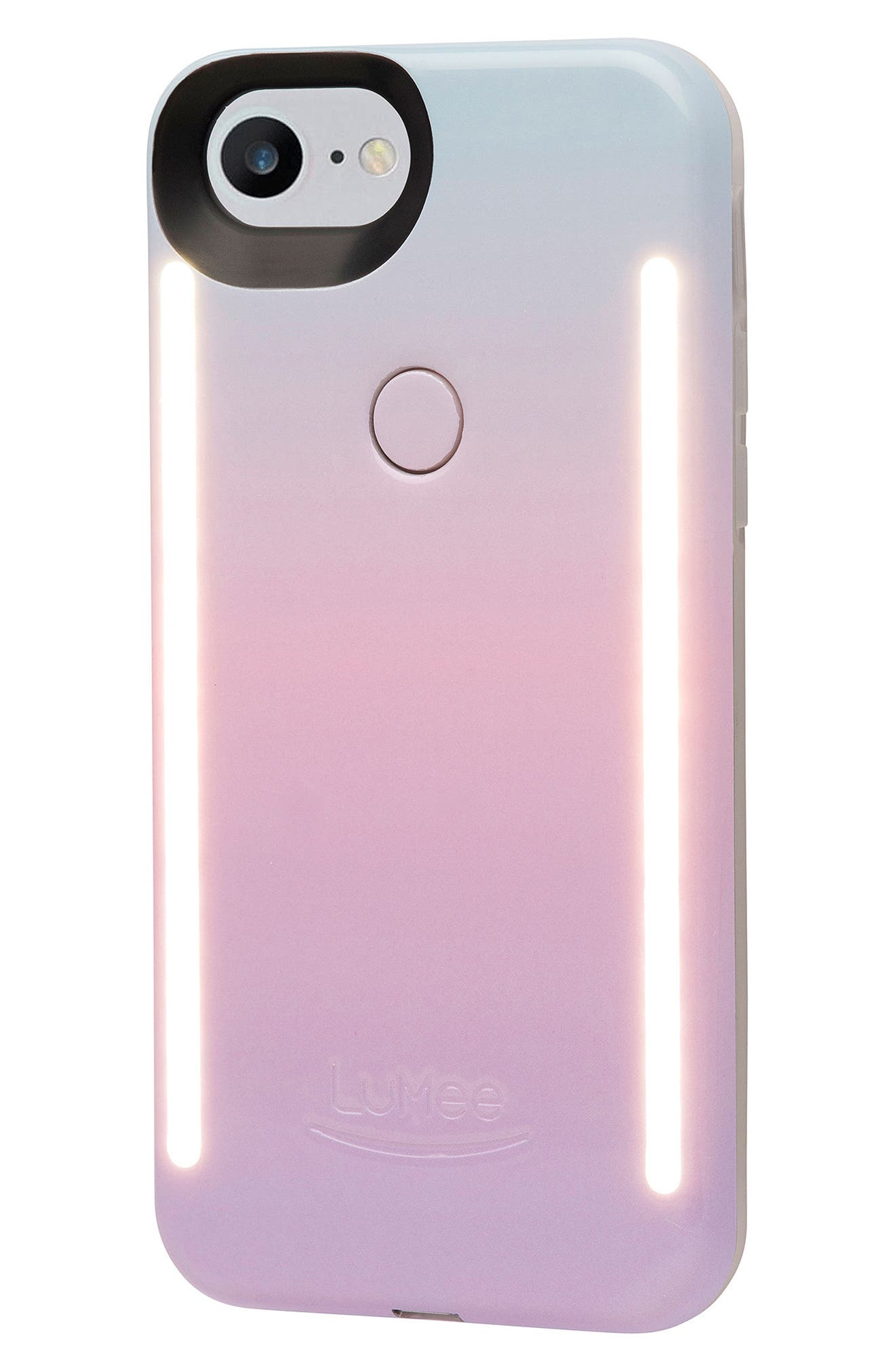Duo LED Lighted iPhone 6/6s/7/8 & 6/6s/7/8 Plus Case,                             Alternate thumbnail 4, color,                             CASCADE