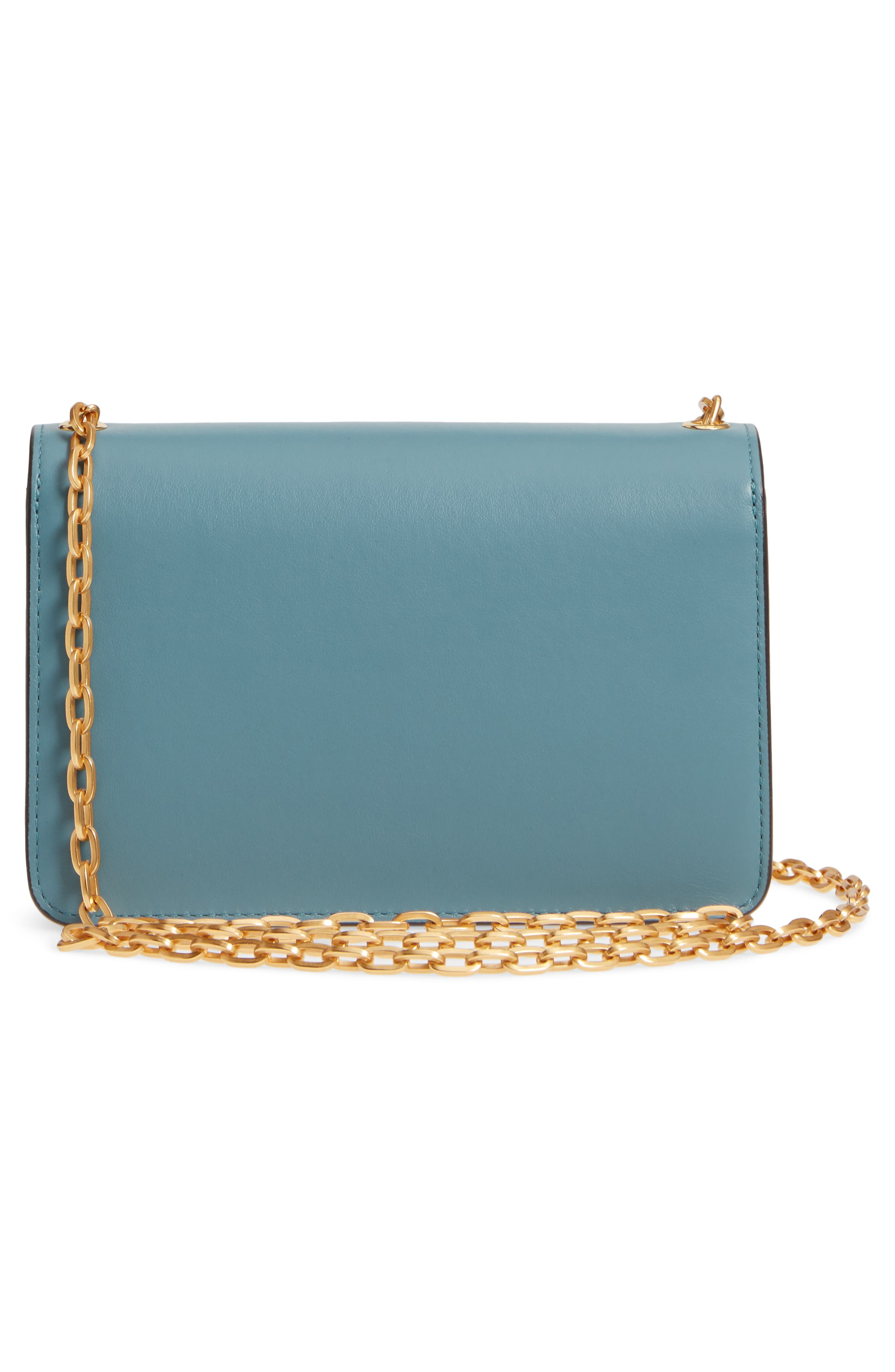 Multiflap Calfskin Leather Clutch,                             Alternate thumbnail 3, color,                             401