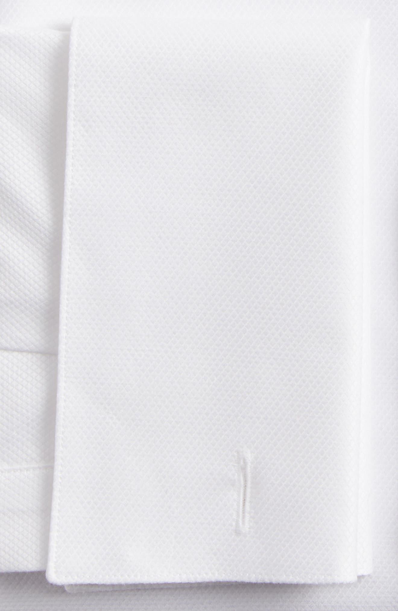 Slim Fit Tuxedo Shirt,                             Alternate thumbnail 6, color,                             WHITE