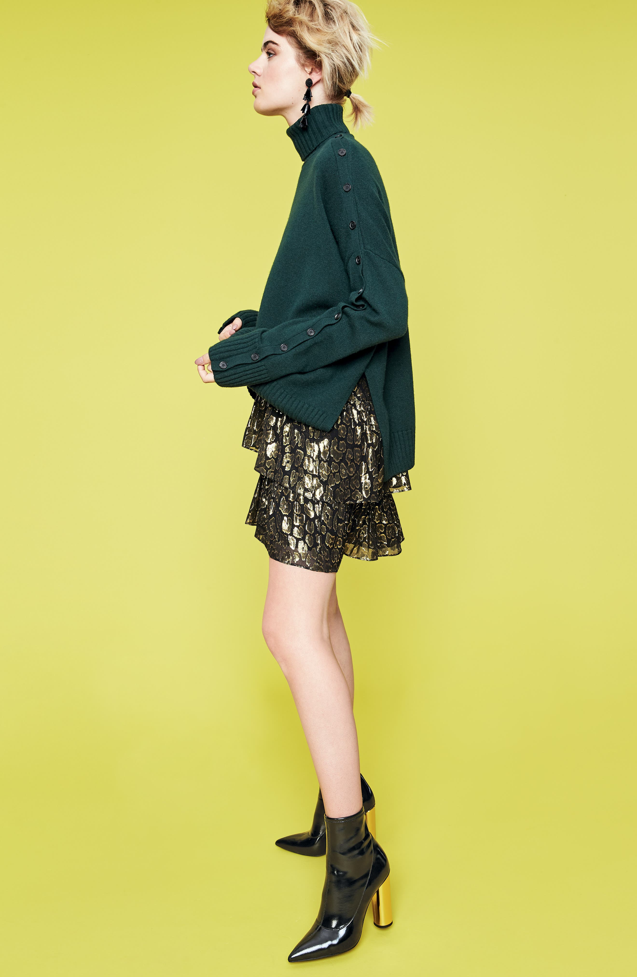 Crosley Merino Wool Turtleneck Sweater, Main, color, 001