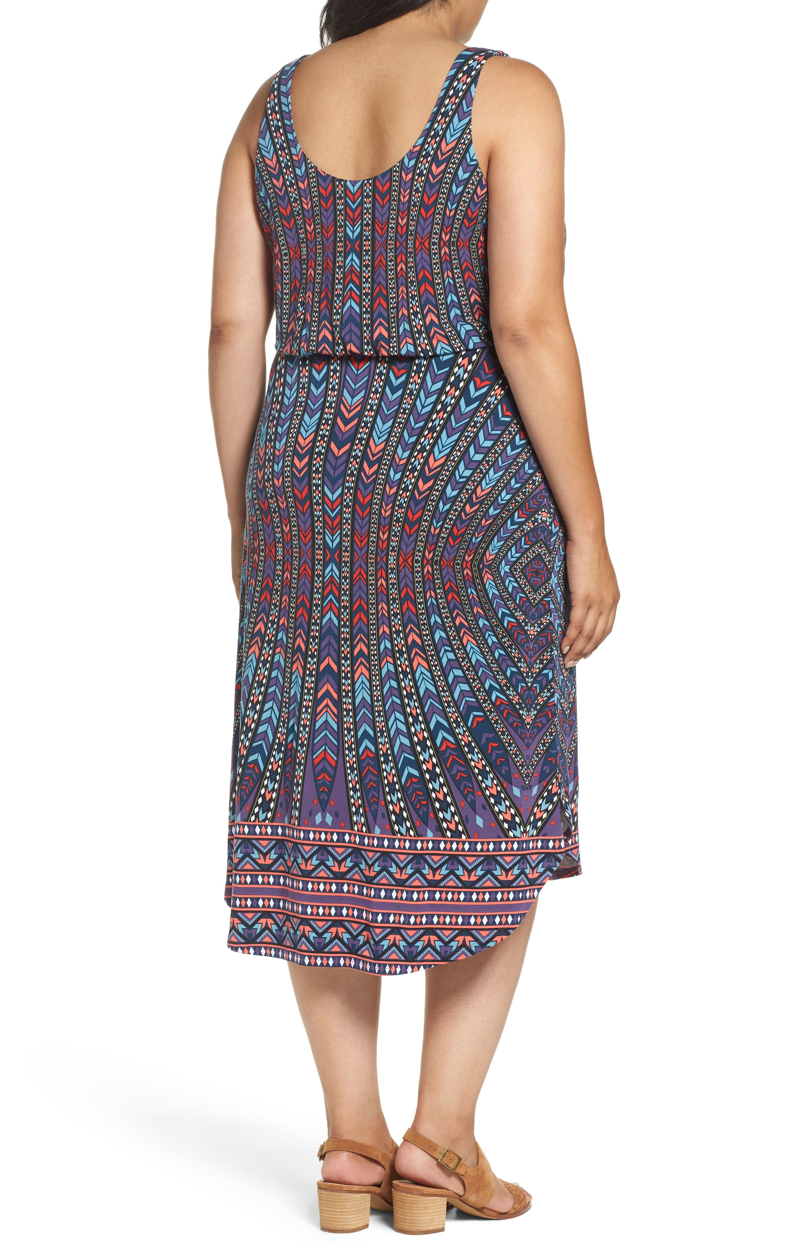 Soraya Print Jersey Midi Dress,                             Alternate thumbnail 2, color,                             400