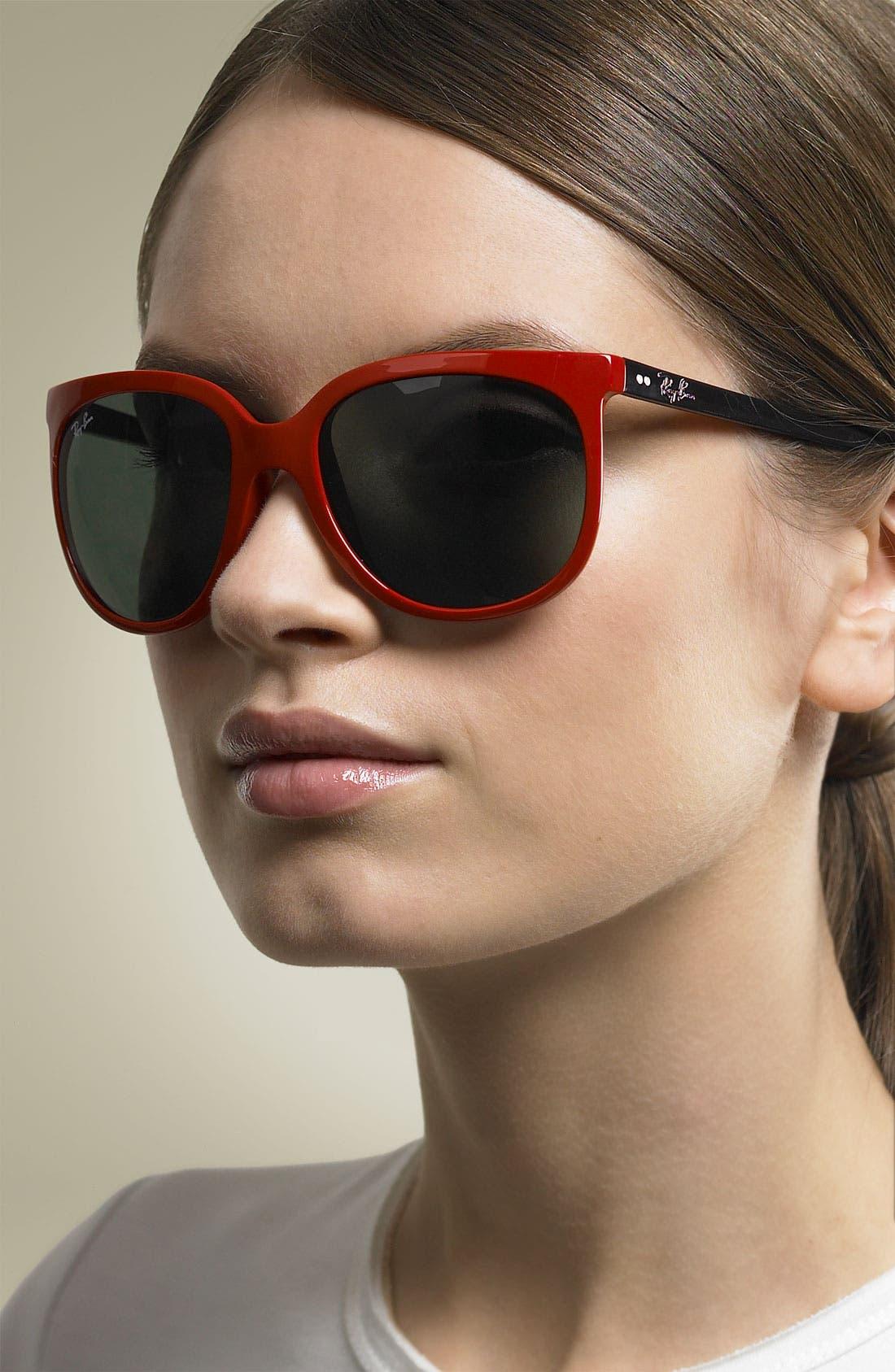 Retro Cat Eye Sunglasses,                             Alternate thumbnail 15, color,