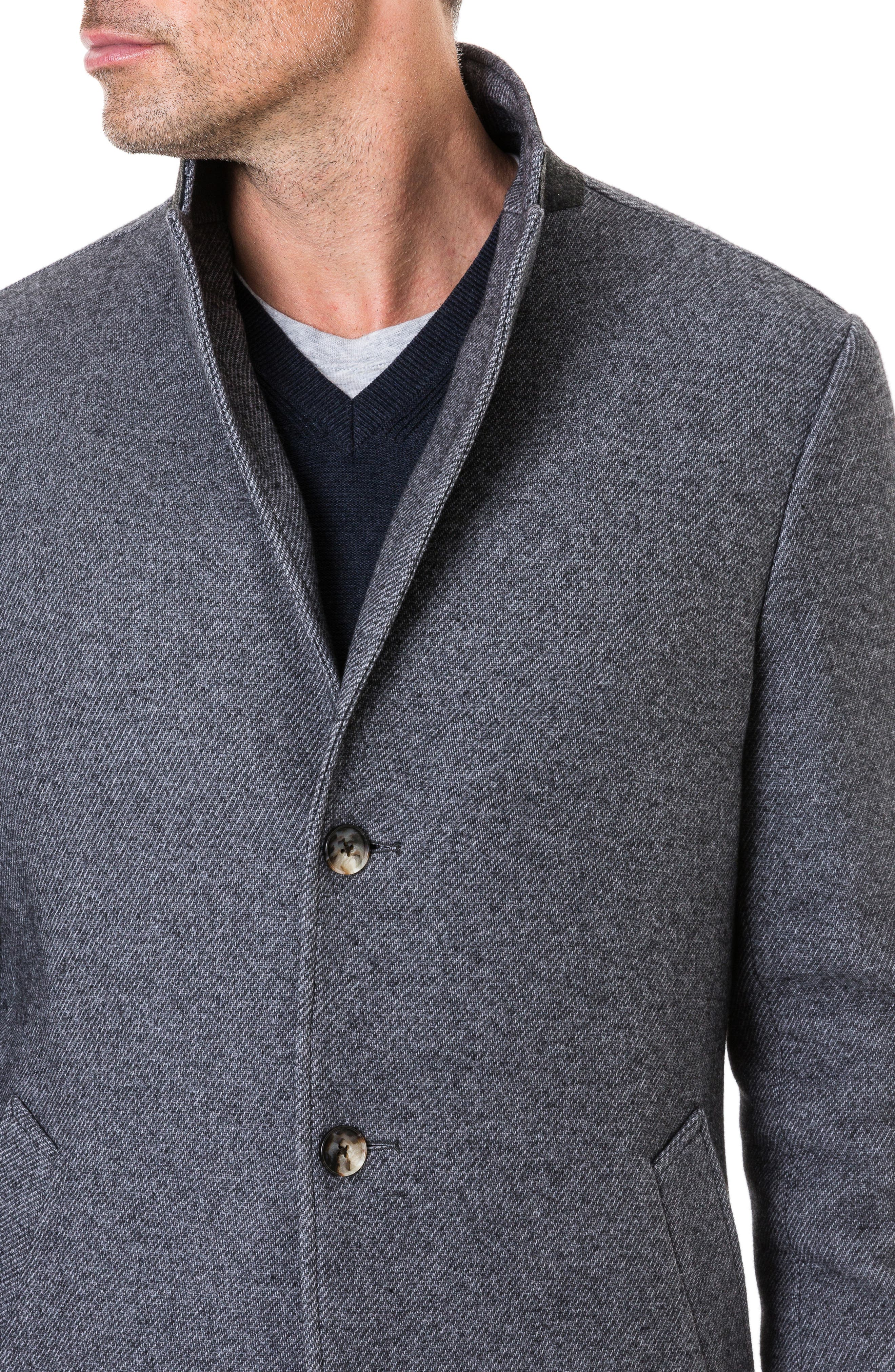 Calton Hill Wool Blend Coat,                             Alternate thumbnail 3, color,                             020