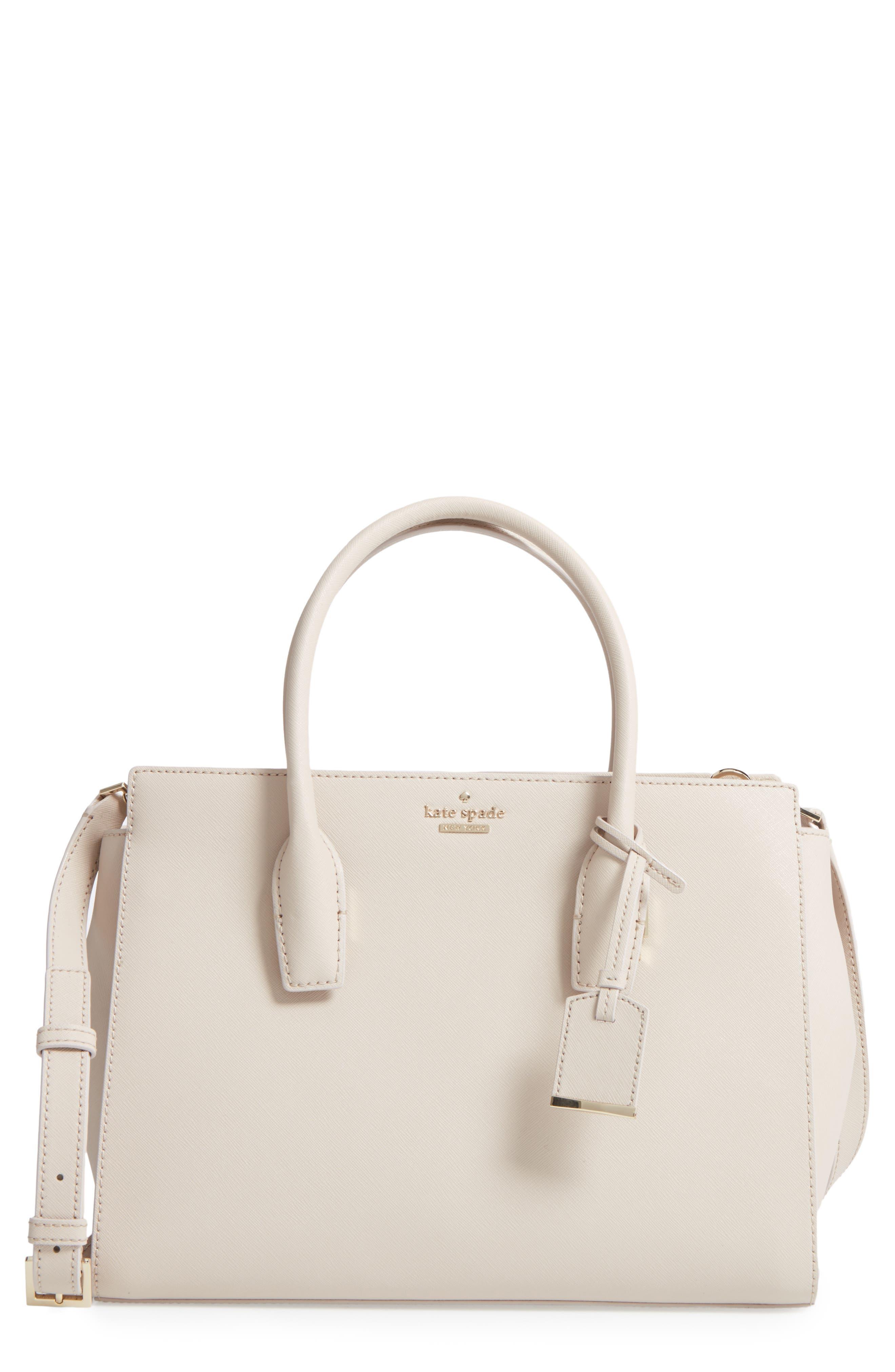 make it mine - candace leather satchel,                             Main thumbnail 2, color,