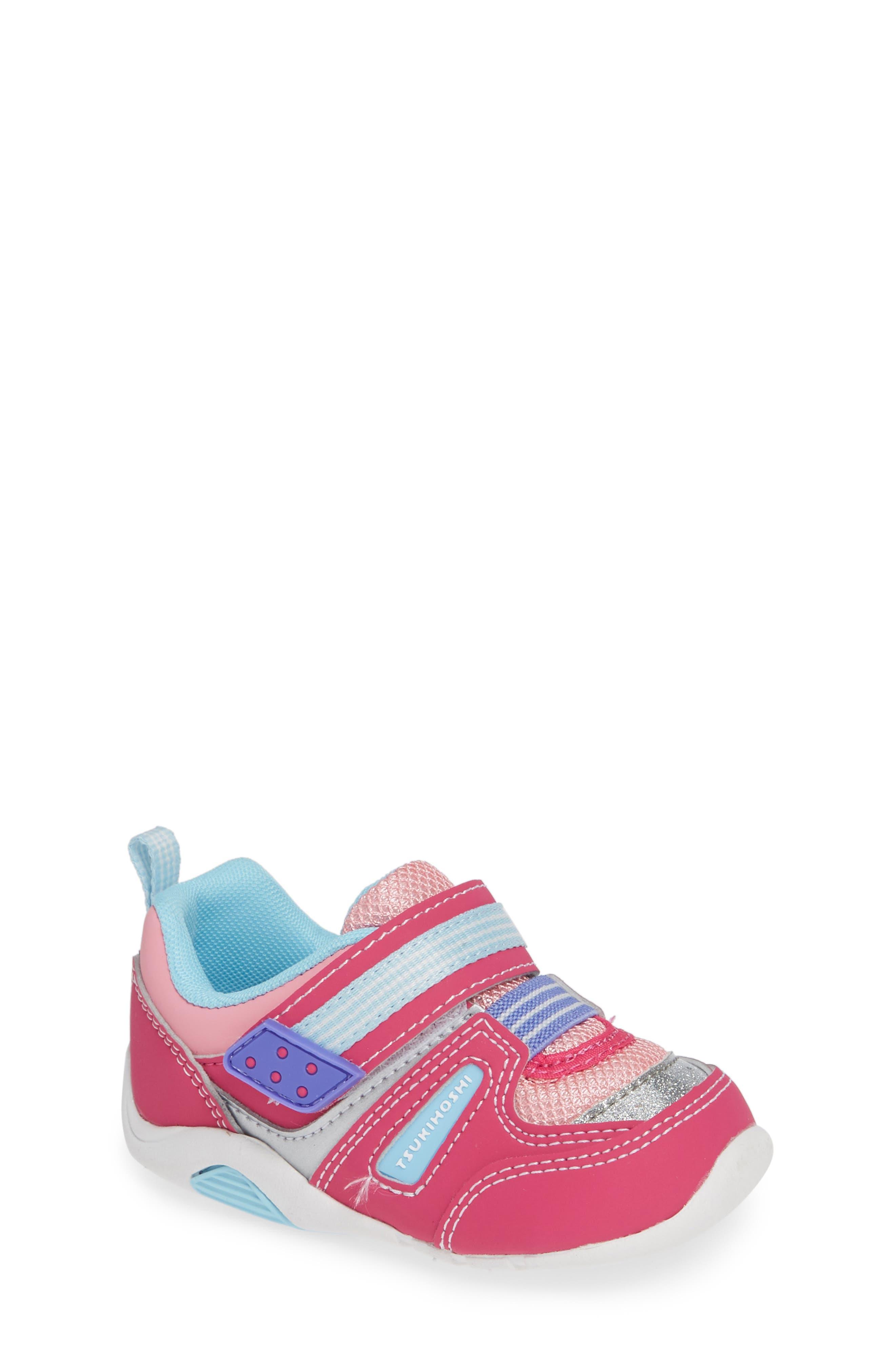 Infant Girls Tsukihoshi Neko Washable Sneaker Size 4 M  Pink