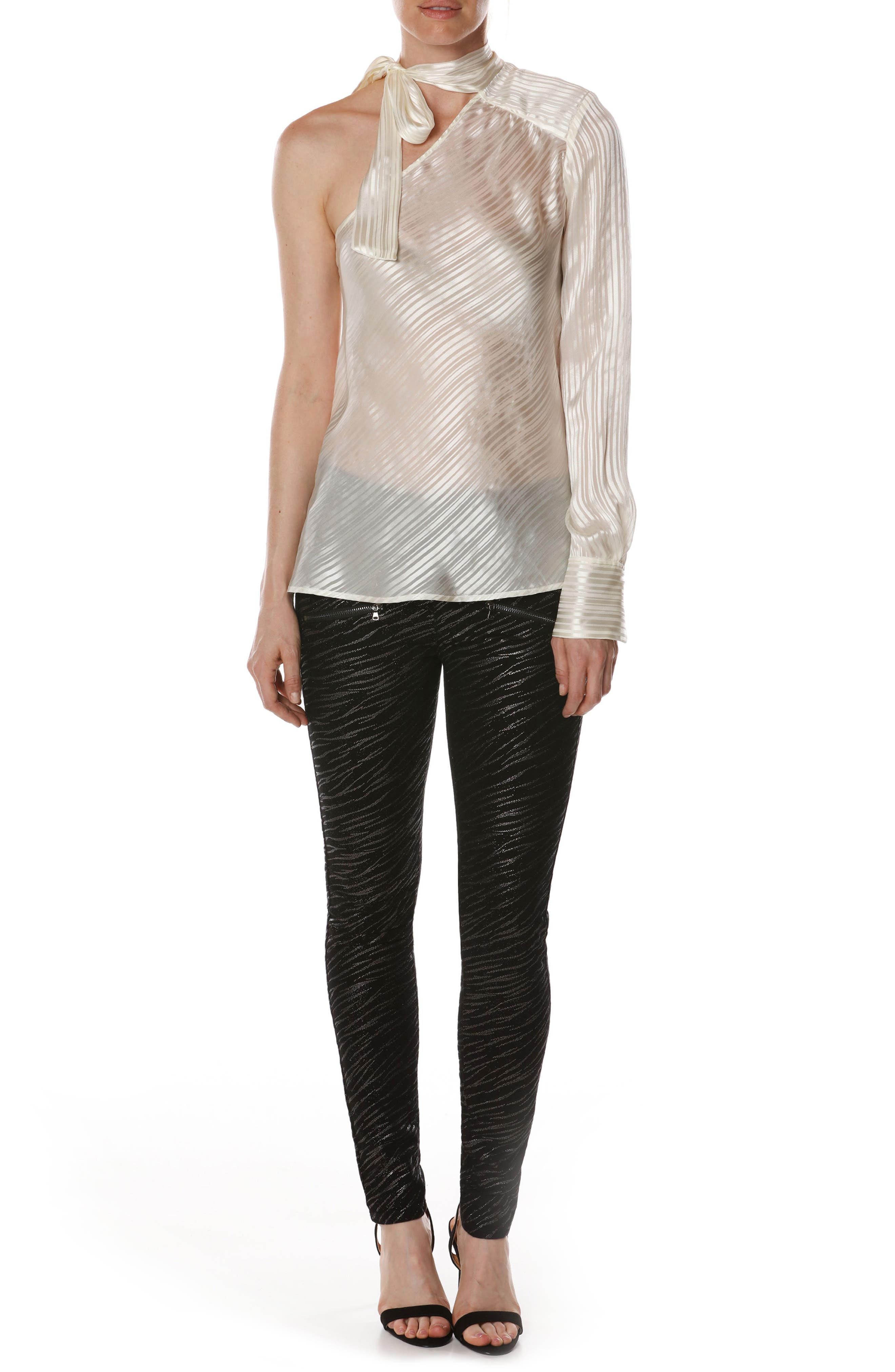 Rosie HW x PAIGE Rona Silk Blouse,                             Alternate thumbnail 6, color,