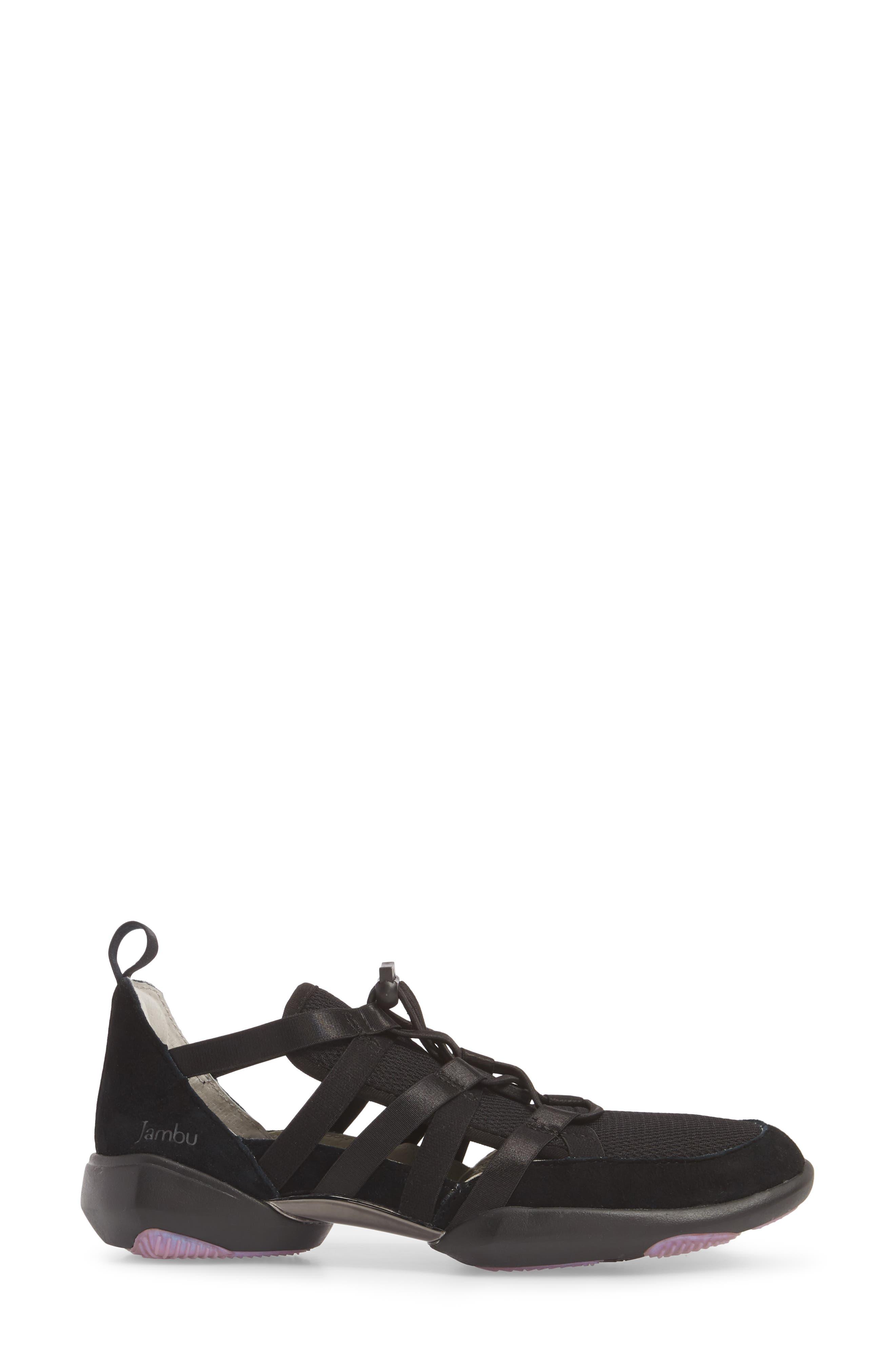 Azalea Sneaker,                             Alternate thumbnail 3, color,                             BLACK SUEDE