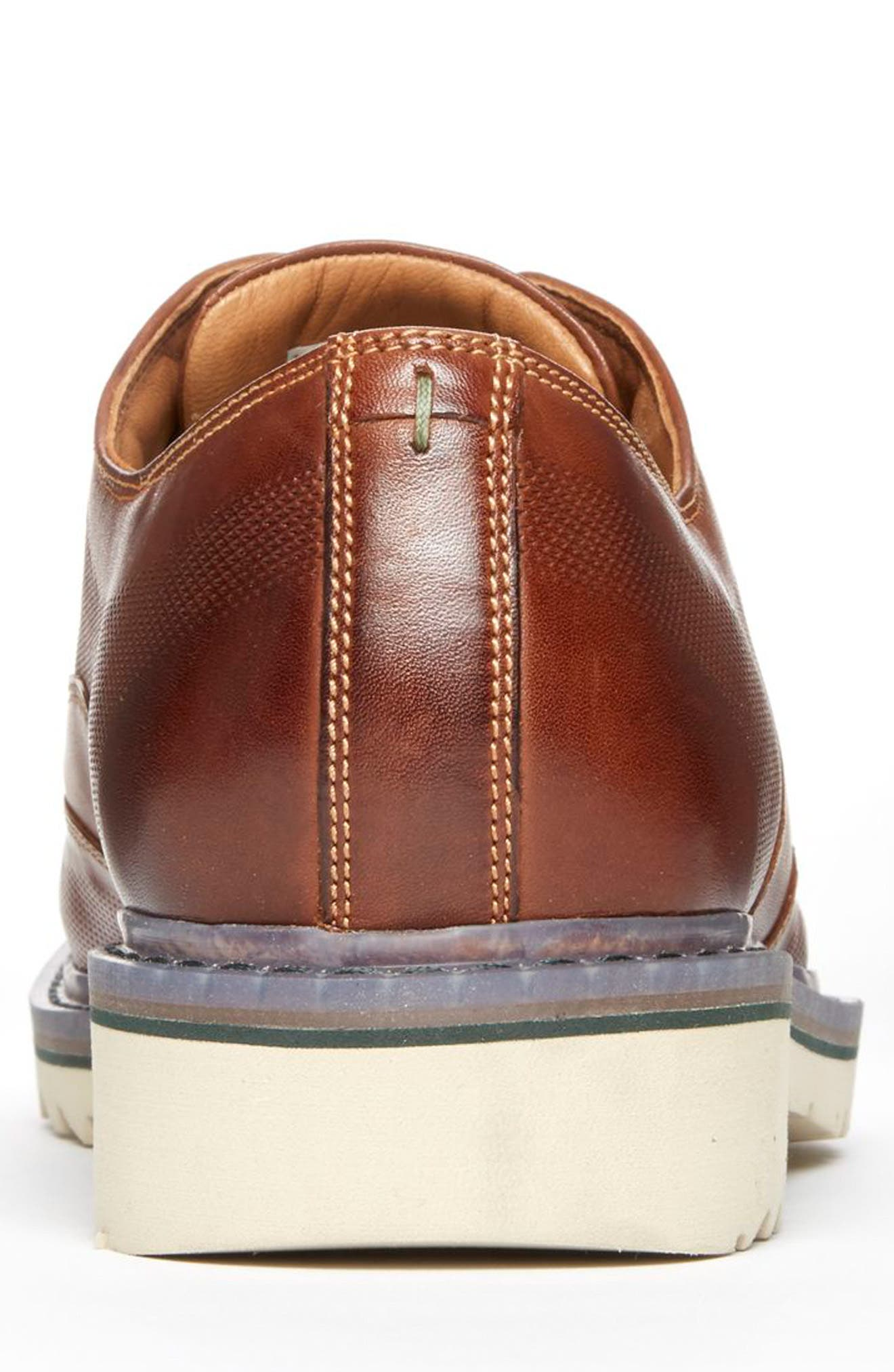 Jaxson Cap Toe Derby,                             Alternate thumbnail 6, color,                             BROWN LEATHER