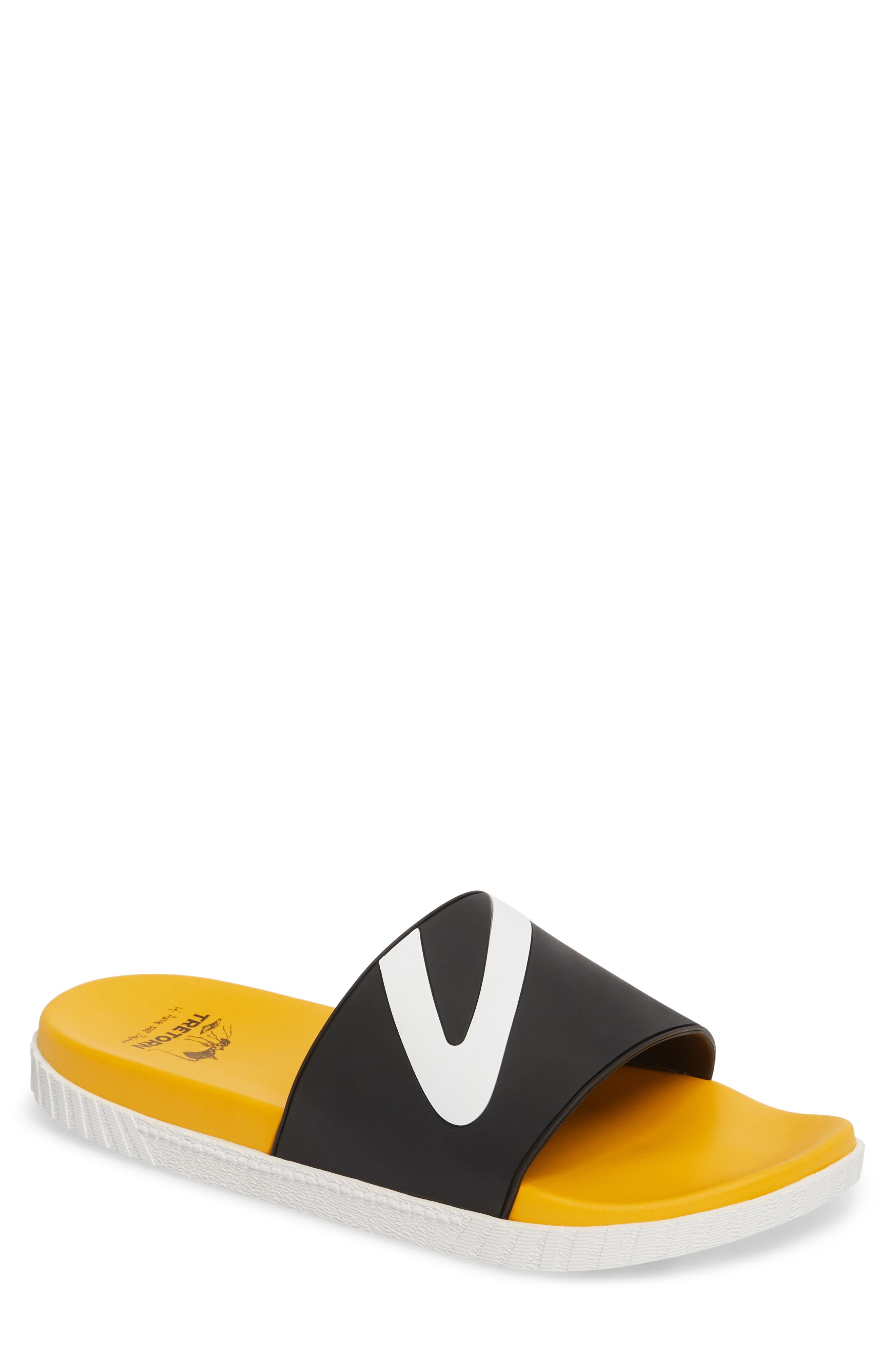 Andre 3000 Slide Sandal,                             Main thumbnail 1, color,                             BLACK