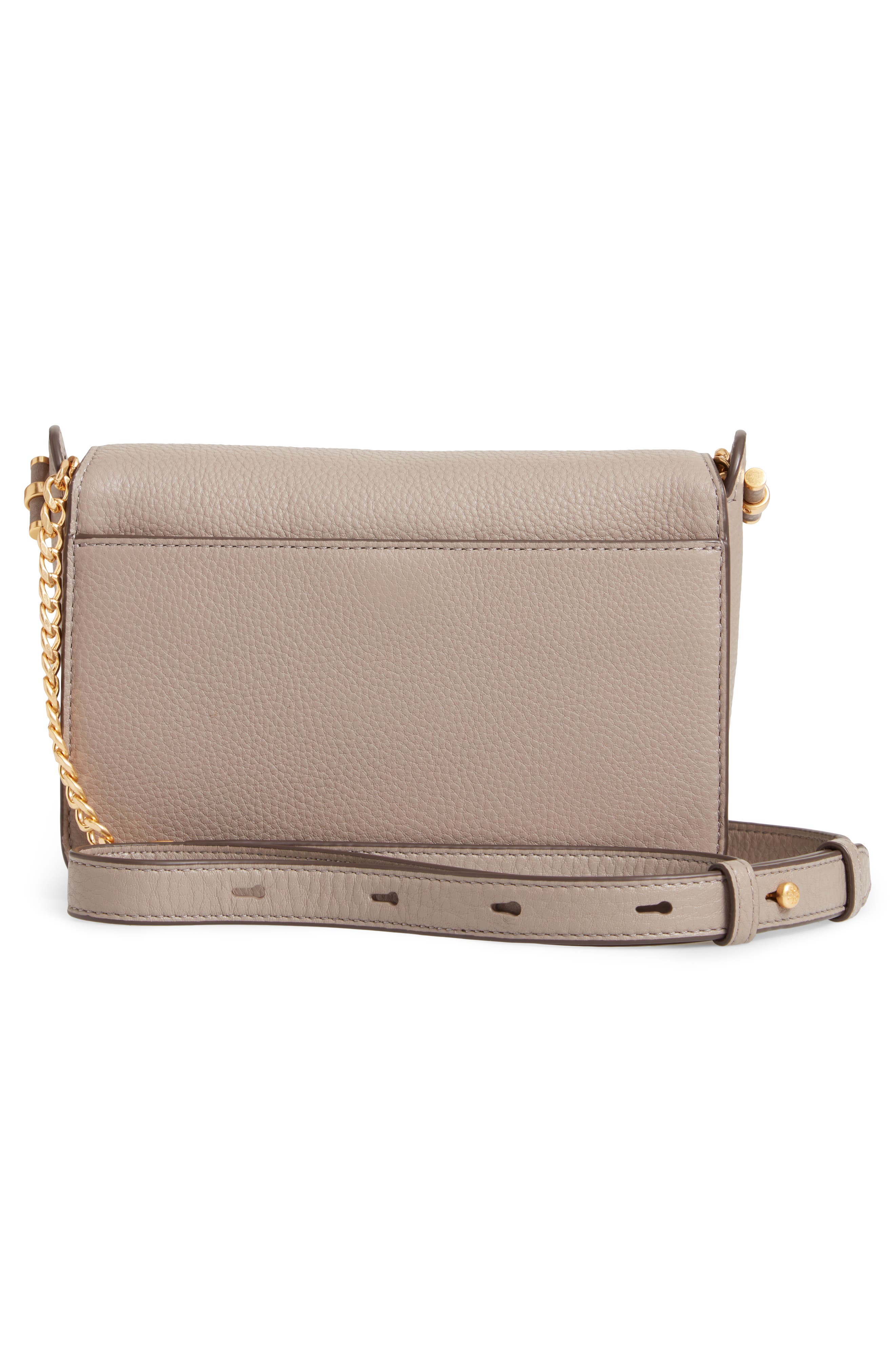 Chelsea Leather Crossbody Bag,                             Alternate thumbnail 3, color,                             GRAY HERON