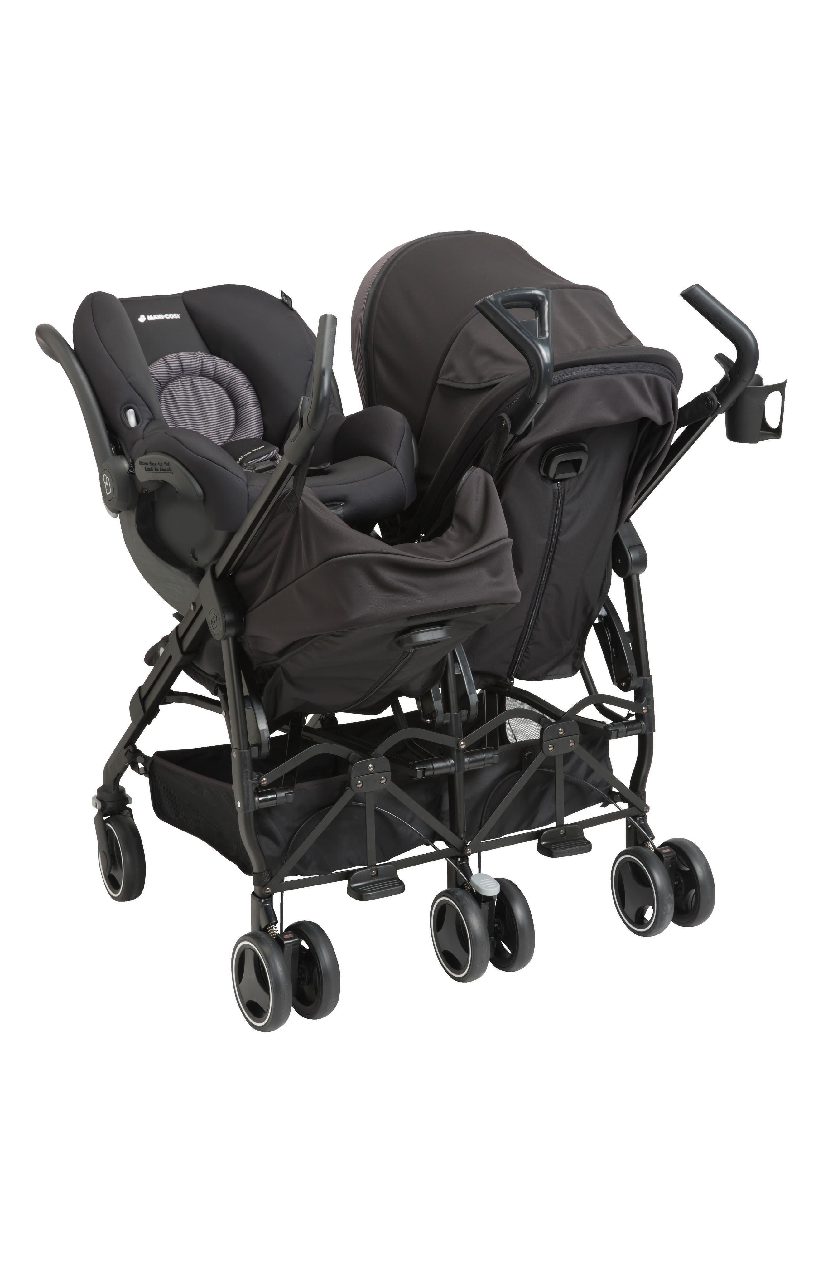 Dana For2 Double Stroller,                             Alternate thumbnail 7, color,                             DEVOTED BLACK
