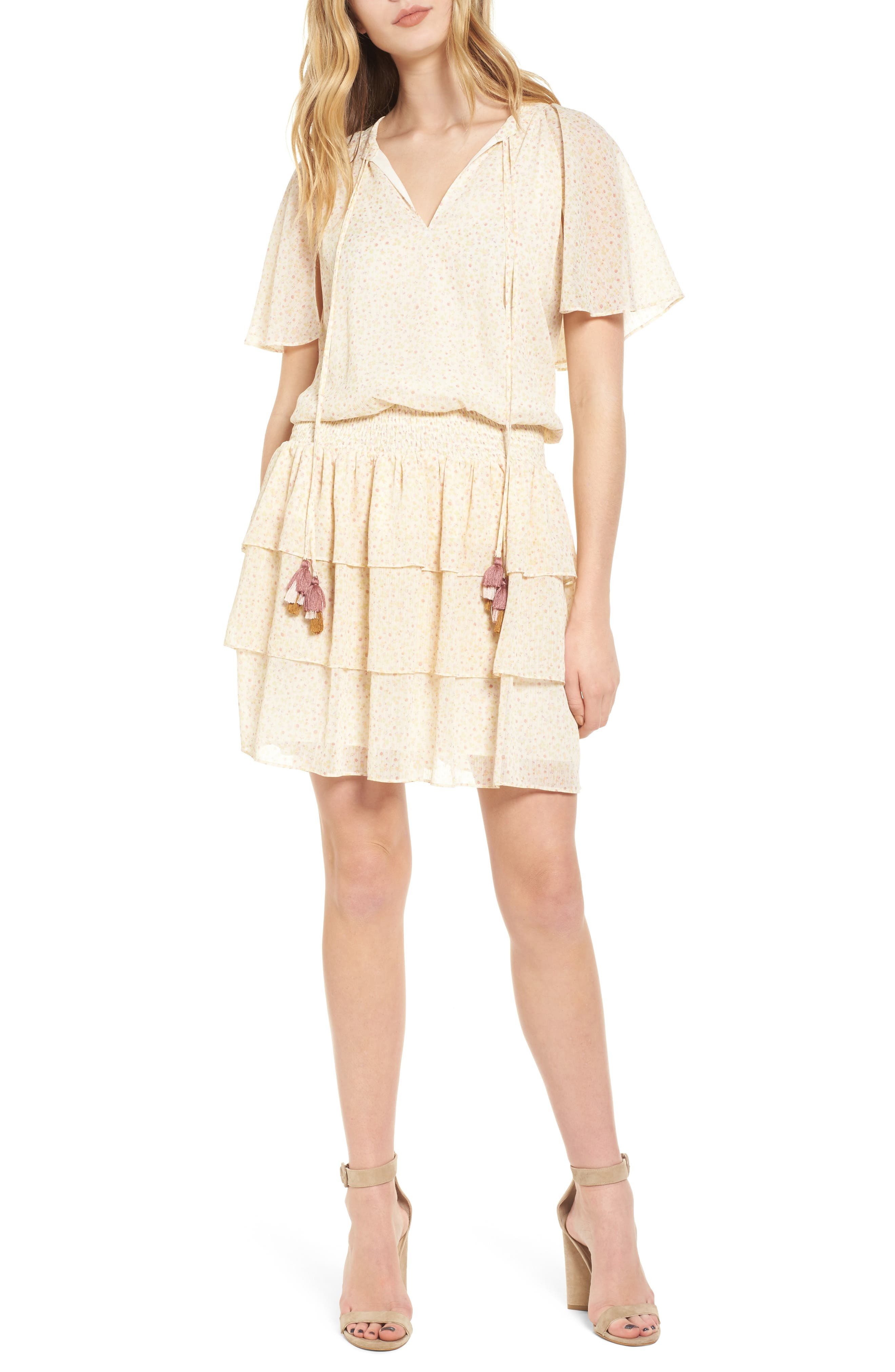 Pebble Blouson Minidress,                         Main,                         color,