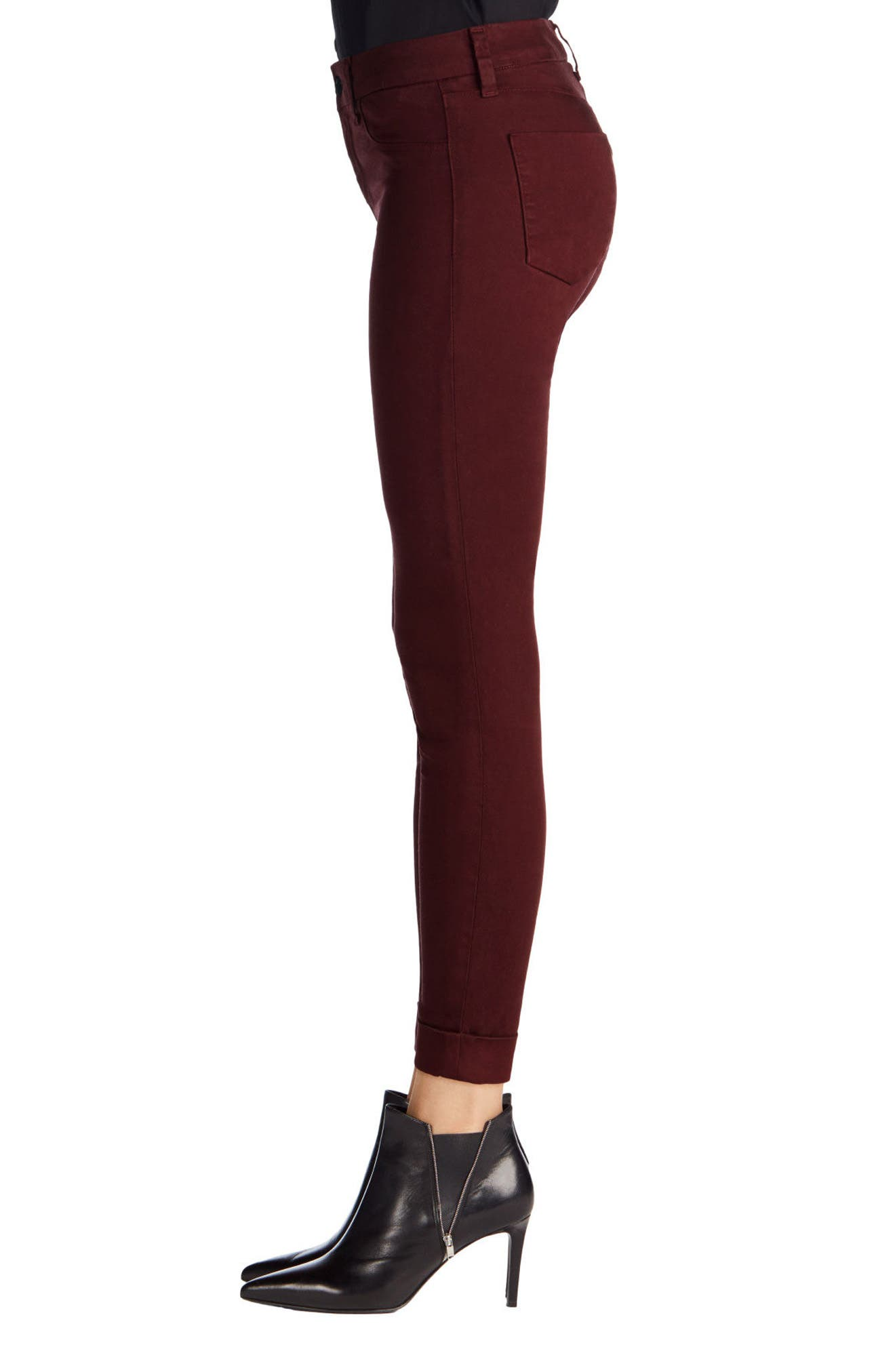 'Anja' Cuffed Crop Skinny Jeans,                             Alternate thumbnail 23, color,