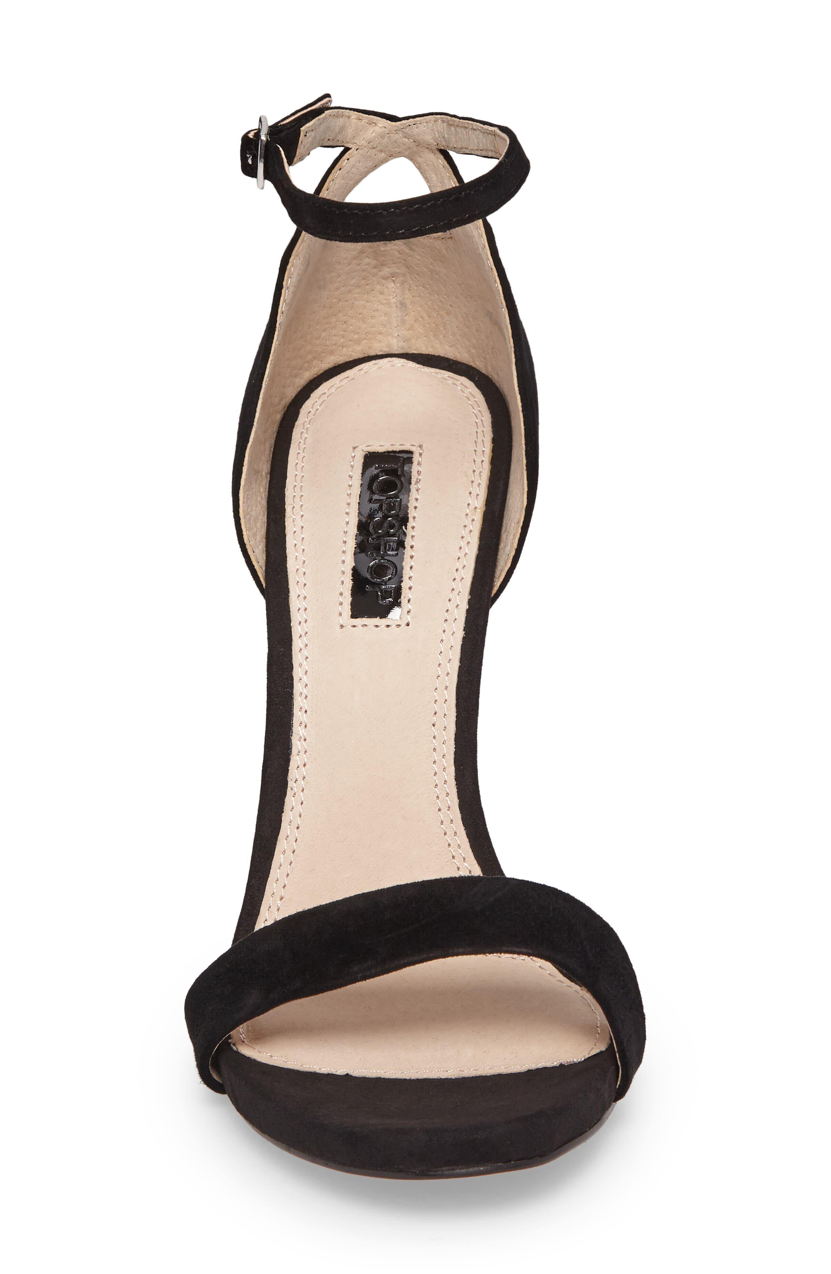 Raphie Ankle Strap Sandal,                             Alternate thumbnail 4, color,                             001
