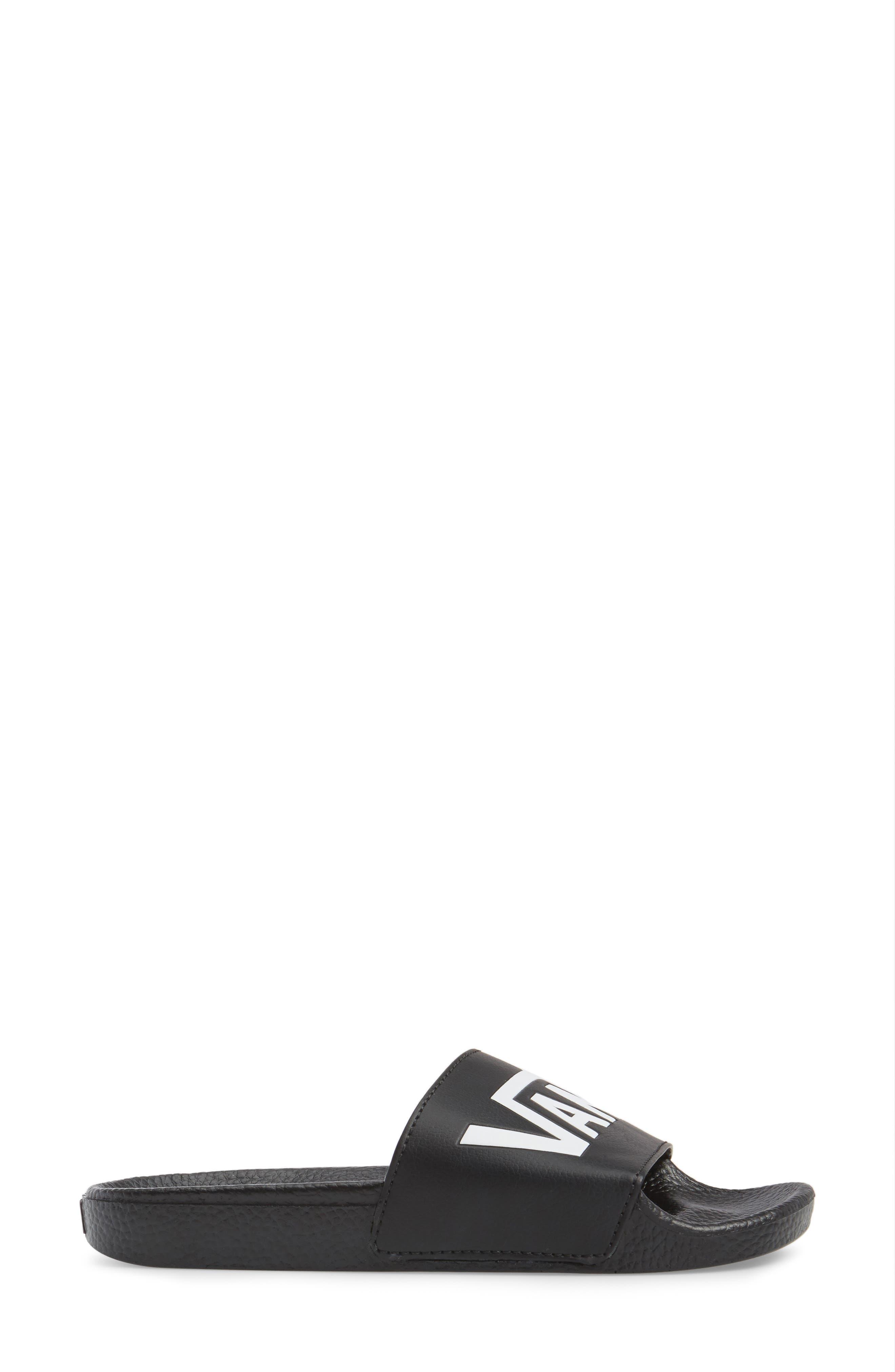 Slide-On Sandal,                             Alternate thumbnail 3, color,                             BLACK