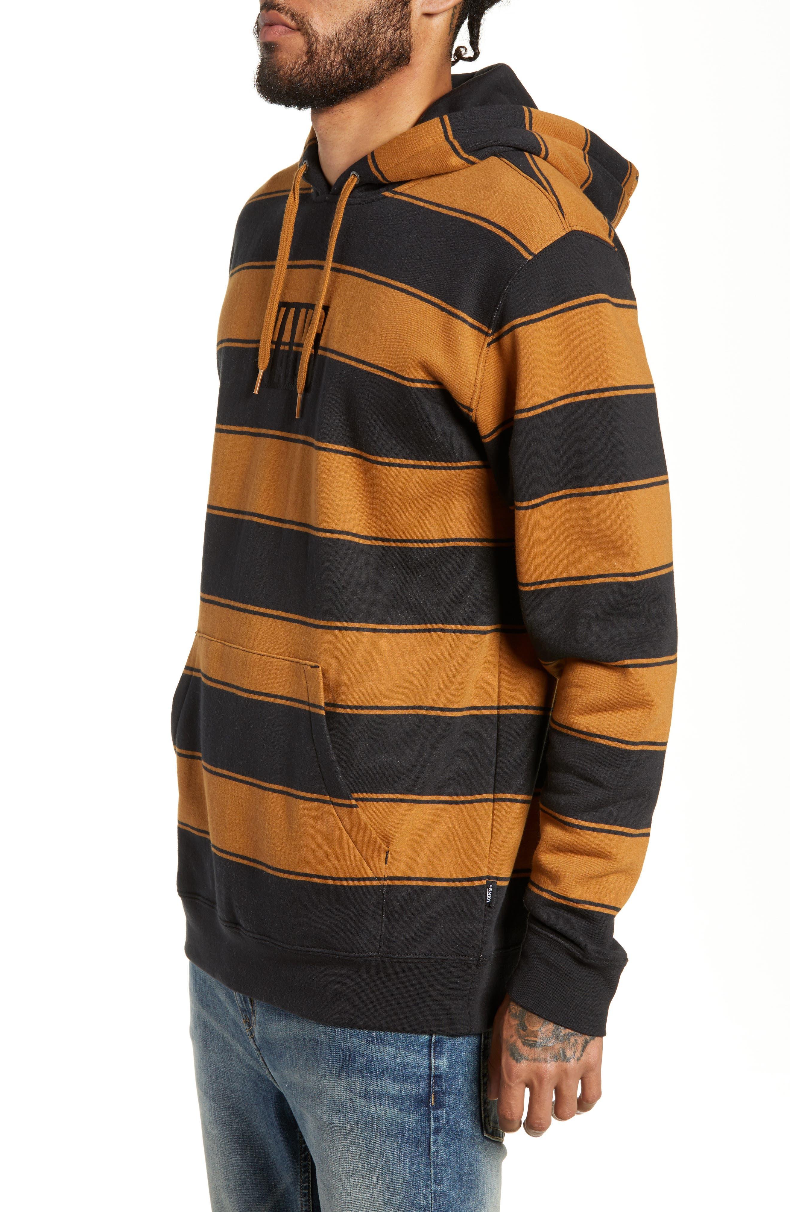 Tall Box Stripe Hoodie Sweatshirt,                             Alternate thumbnail 3, color,                             001