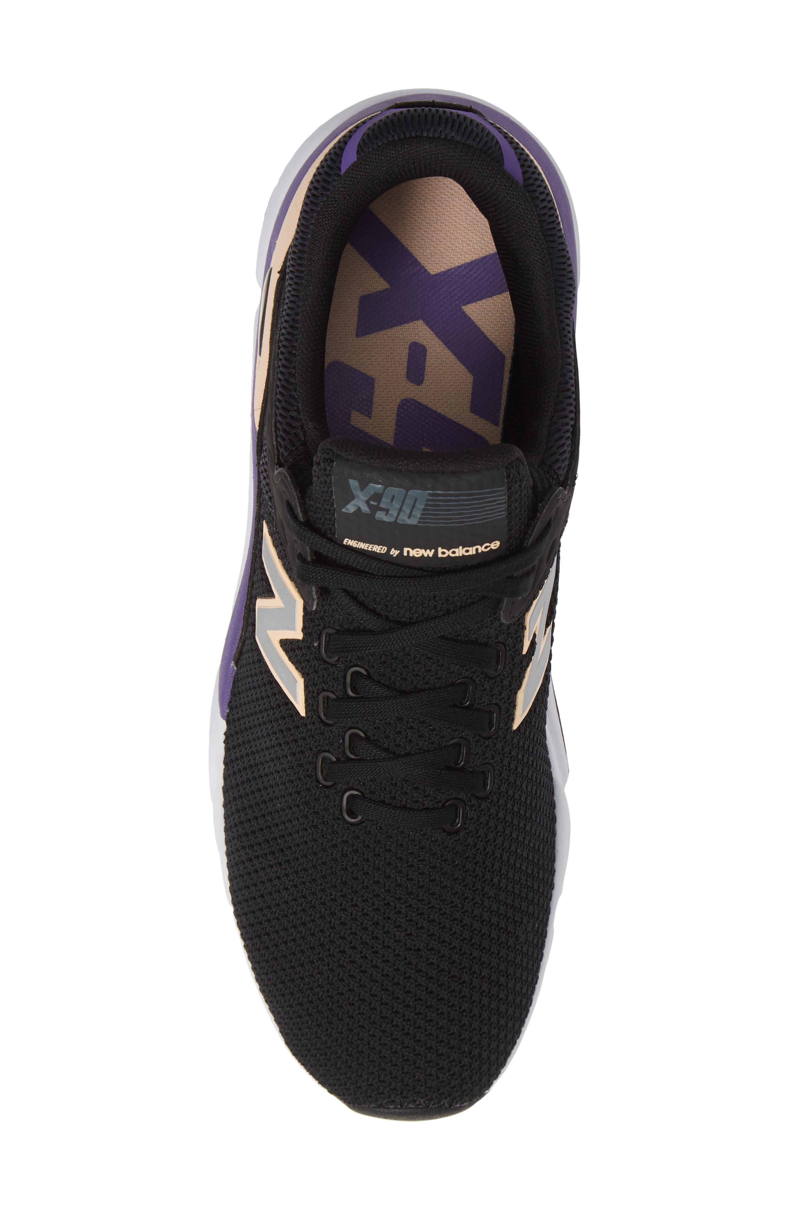 X-90 Knit Sneaker,                             Alternate thumbnail 5, color,                             BLACK