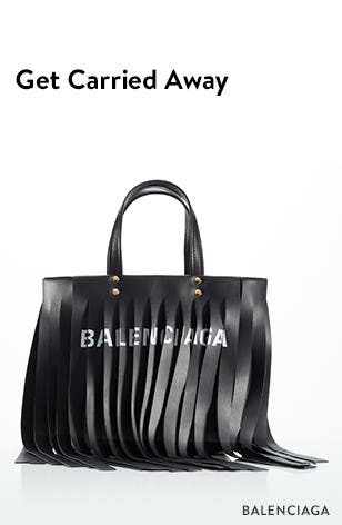 New designer handbags; get carried away. Balenciaga logo bag.