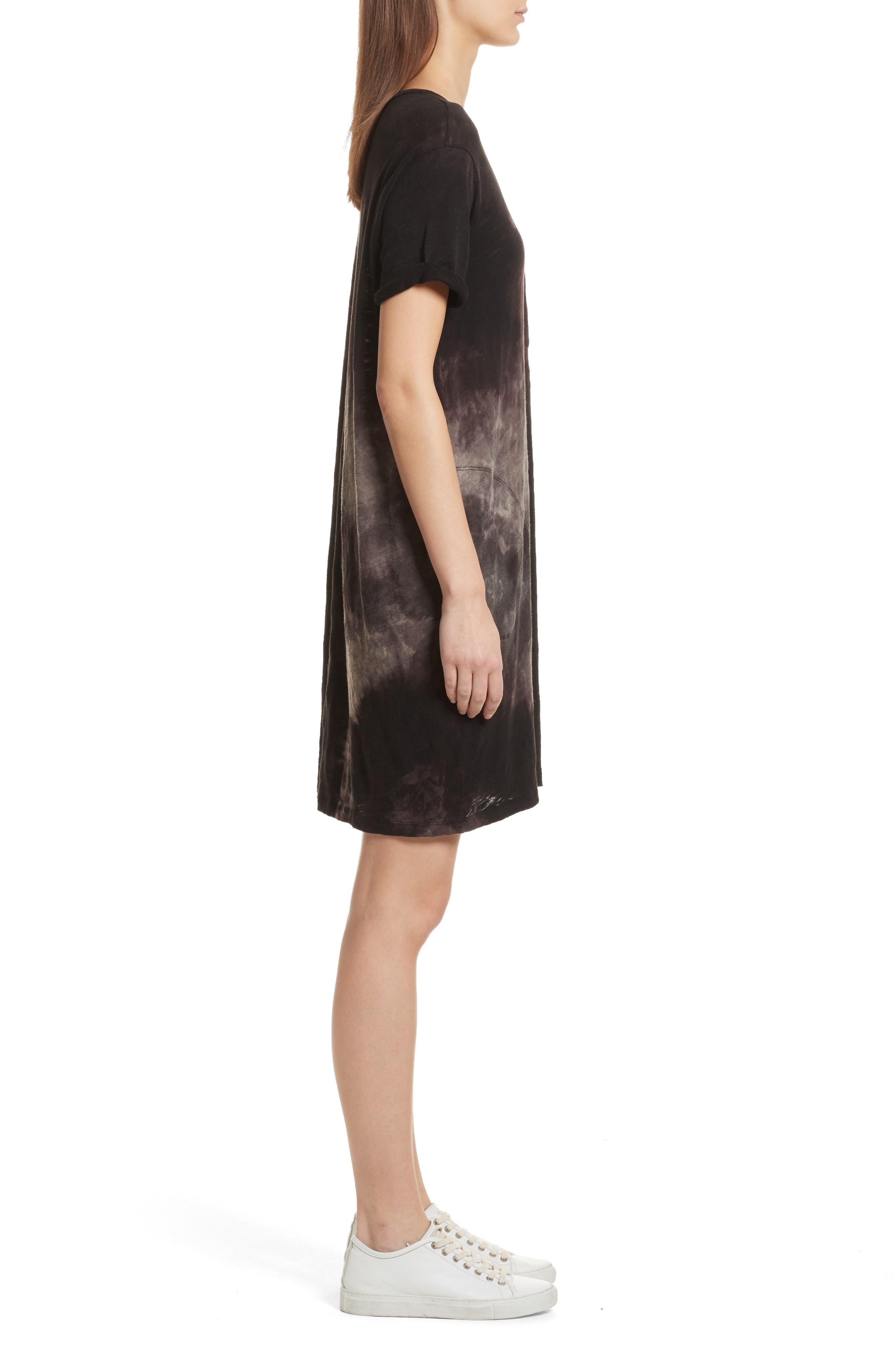 Tie Dye Jersey T-Shirt Dress,                             Alternate thumbnail 3, color,                             012